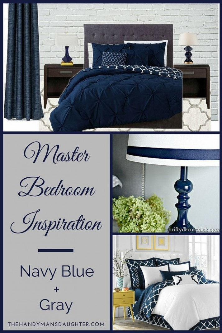 Navy Blue and Gray Bedroom Ideas  Master bedroom colors, Gray  - Bedroom Ideas Navy And Grey