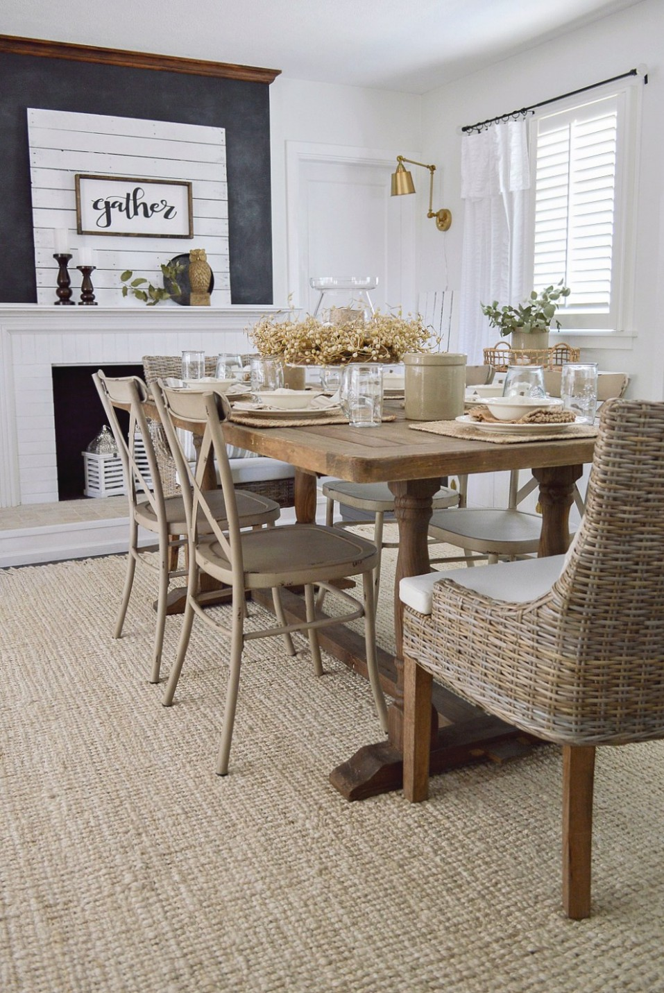 neutral-farmhouse-fall-dining-room-decorating-ideas - Dining Room Replacement Ideas