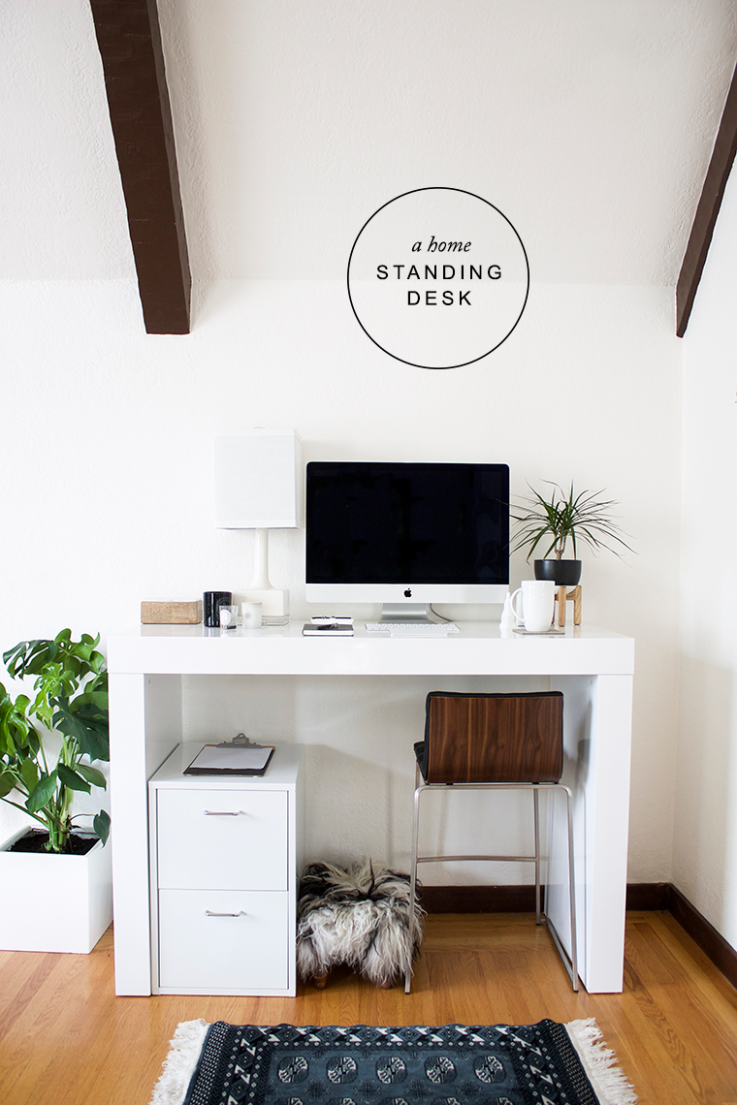 New Year New Office (with a Standing Desk!) - copycatchic  Home  - Home Office Ideas With Standing Desk