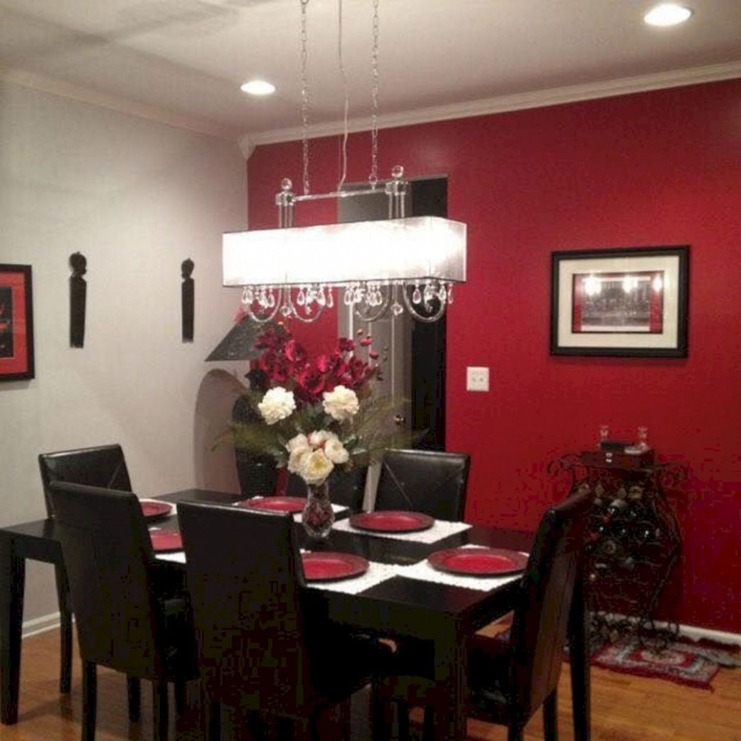 Nice 10+ Incredible Christmas Red Kitchen Wall Color Design Ideas  - Dining Room Ideas Red