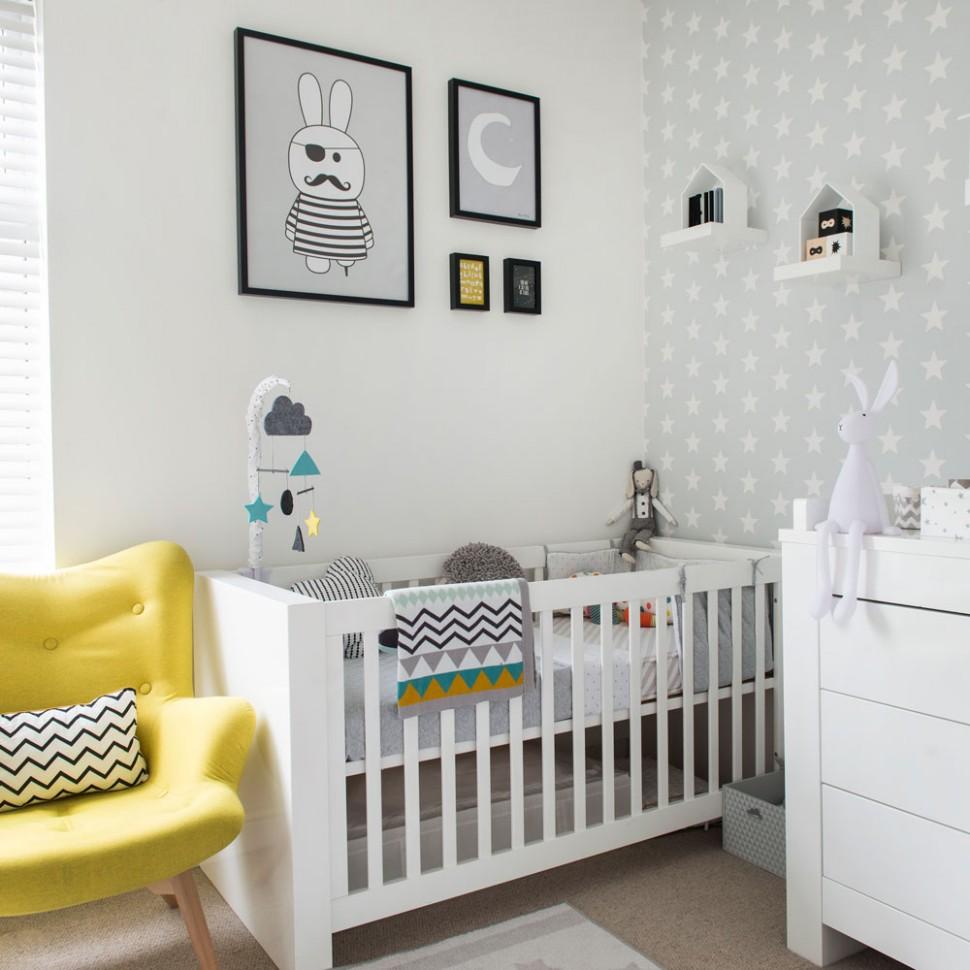 Nursery decorating ideas – Nursery furniture – Nursery wallpaper - Baby Room Wall Ideas