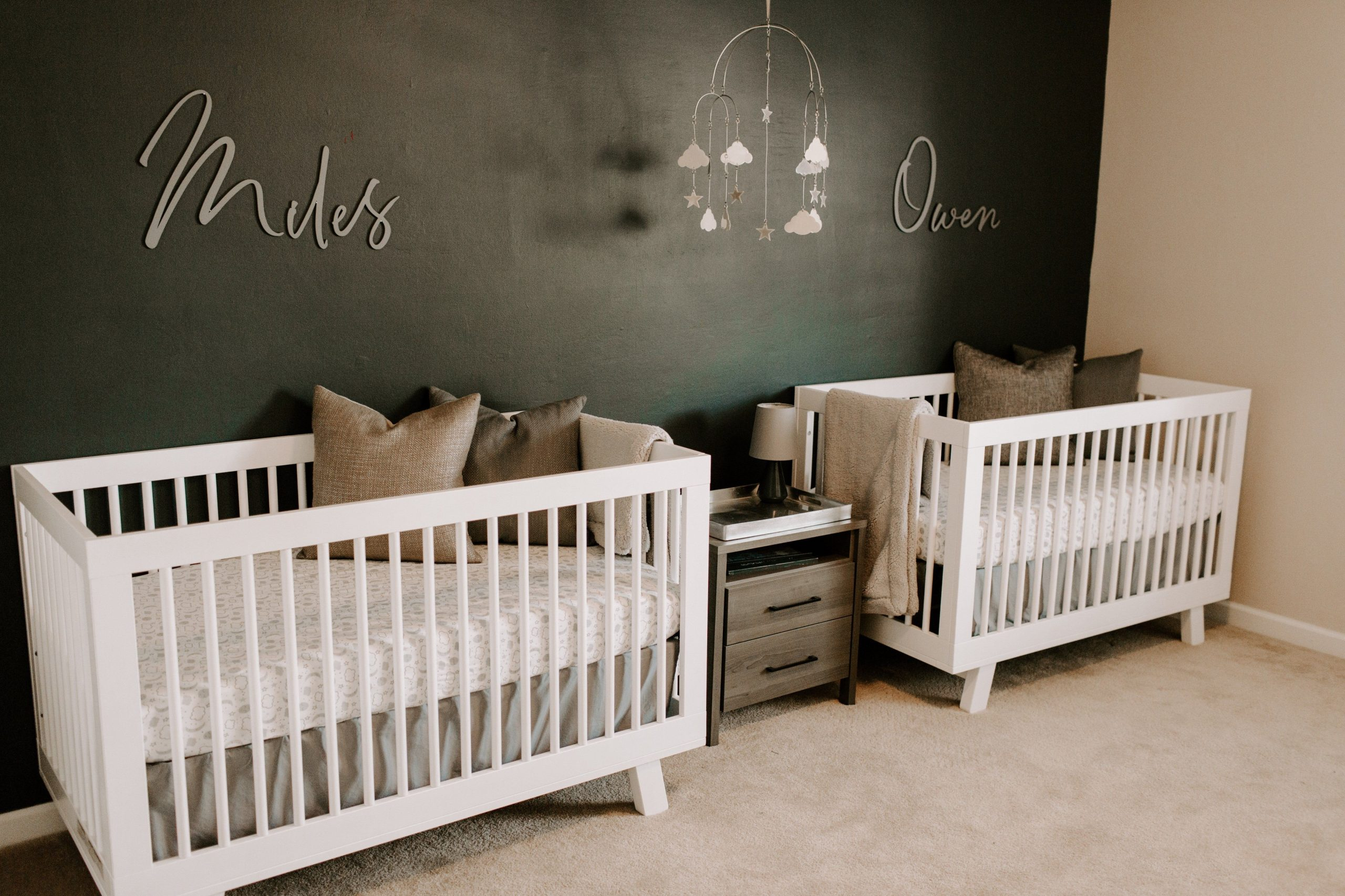 Nursery Name Sign for Baby Bedroom Wall Decor Wooden Letters Kids  - Baby Room Name Decor