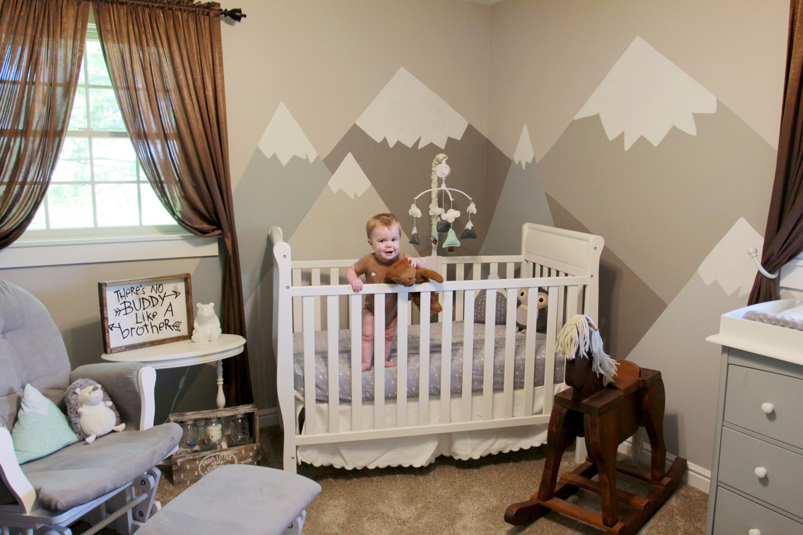 Nursery Room Remodel: Mountain Theme for a Baby Boy - Sojourner Mom - Baby Room Mountain Theme