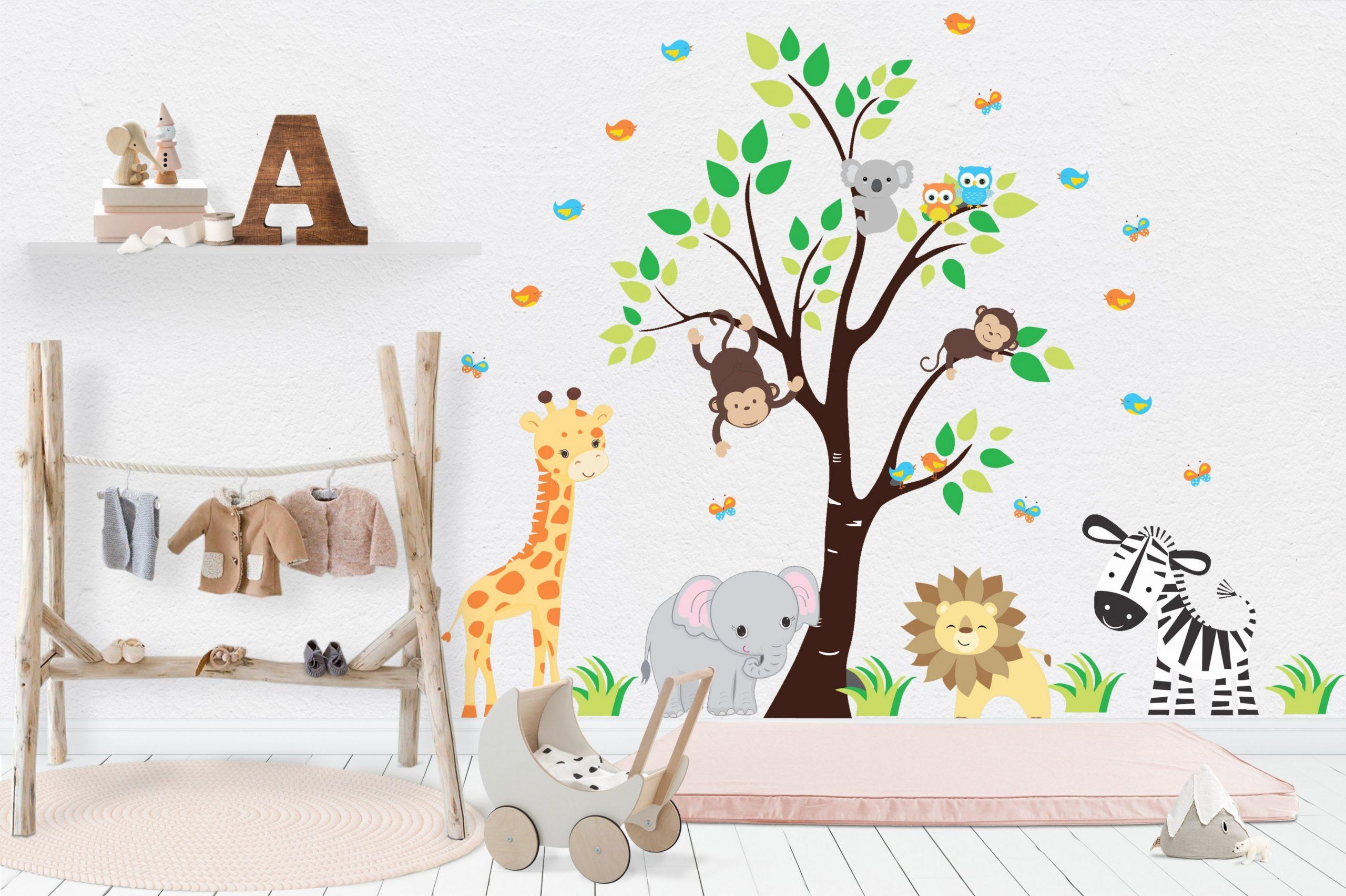 Nursery Wall Decals - Safari Nursery Stickers - Baby Room Decals  - Baby Room Stickers