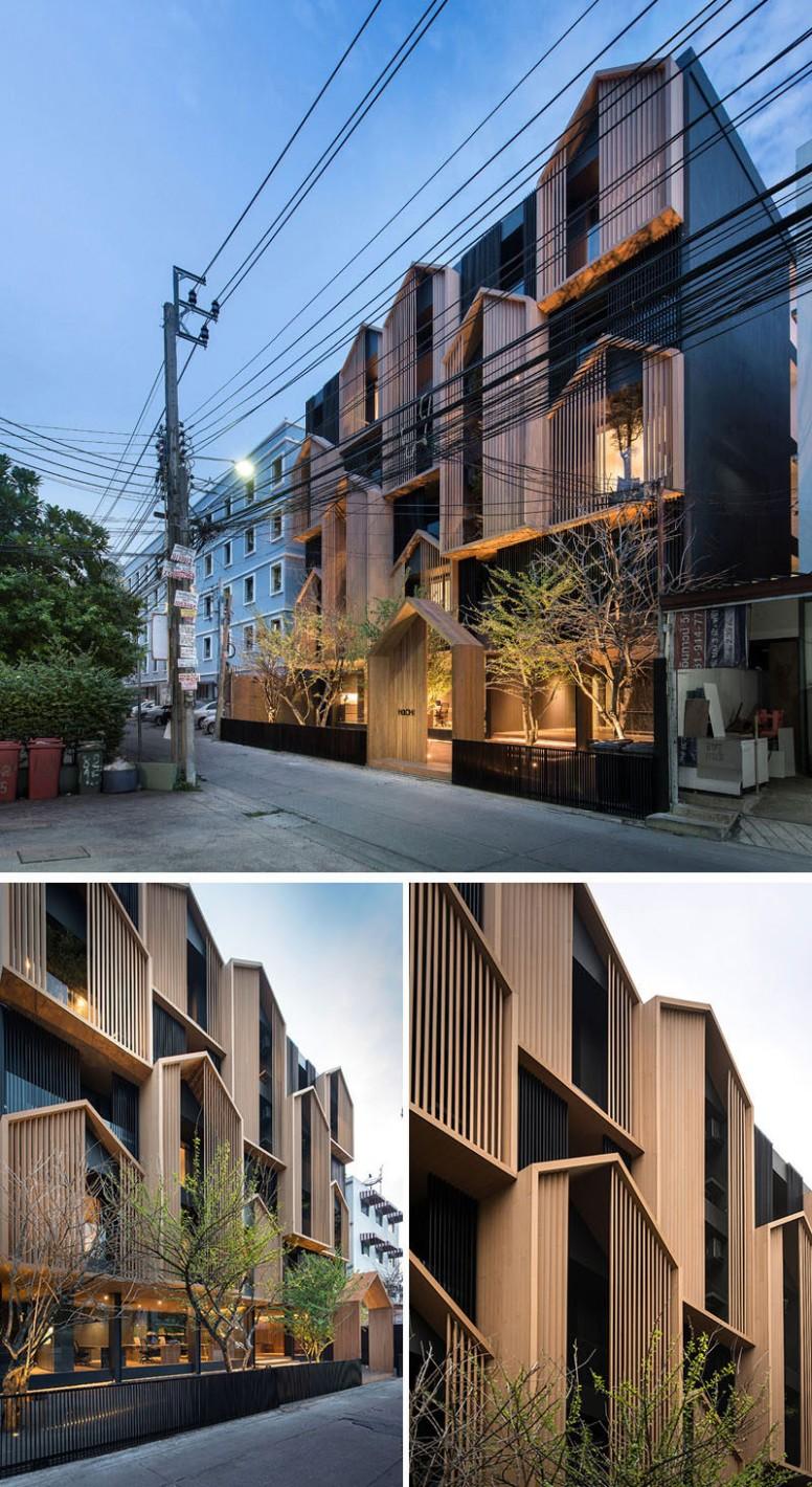 Octane Architect & Design Have Completed A Thai Apartment Building  - Apartment Design Facade