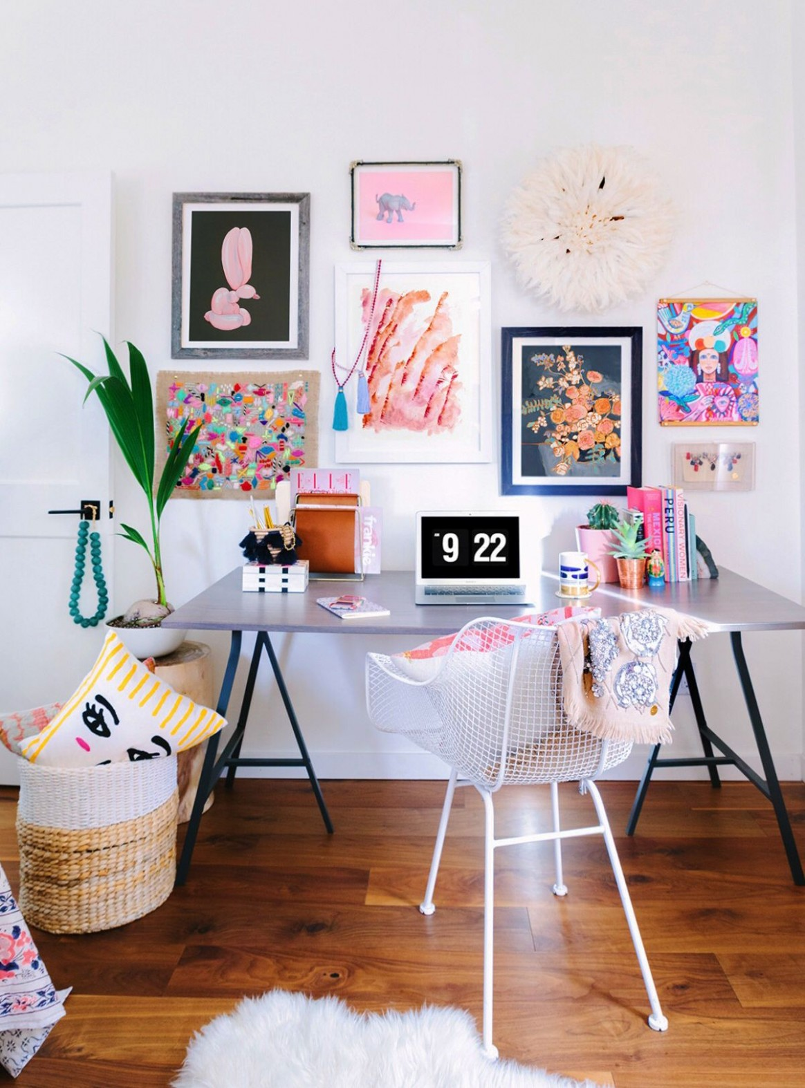 Office Gallery Wall Two Ways - Honestly WTF  Creative office  - Home Office Ideas Gallery