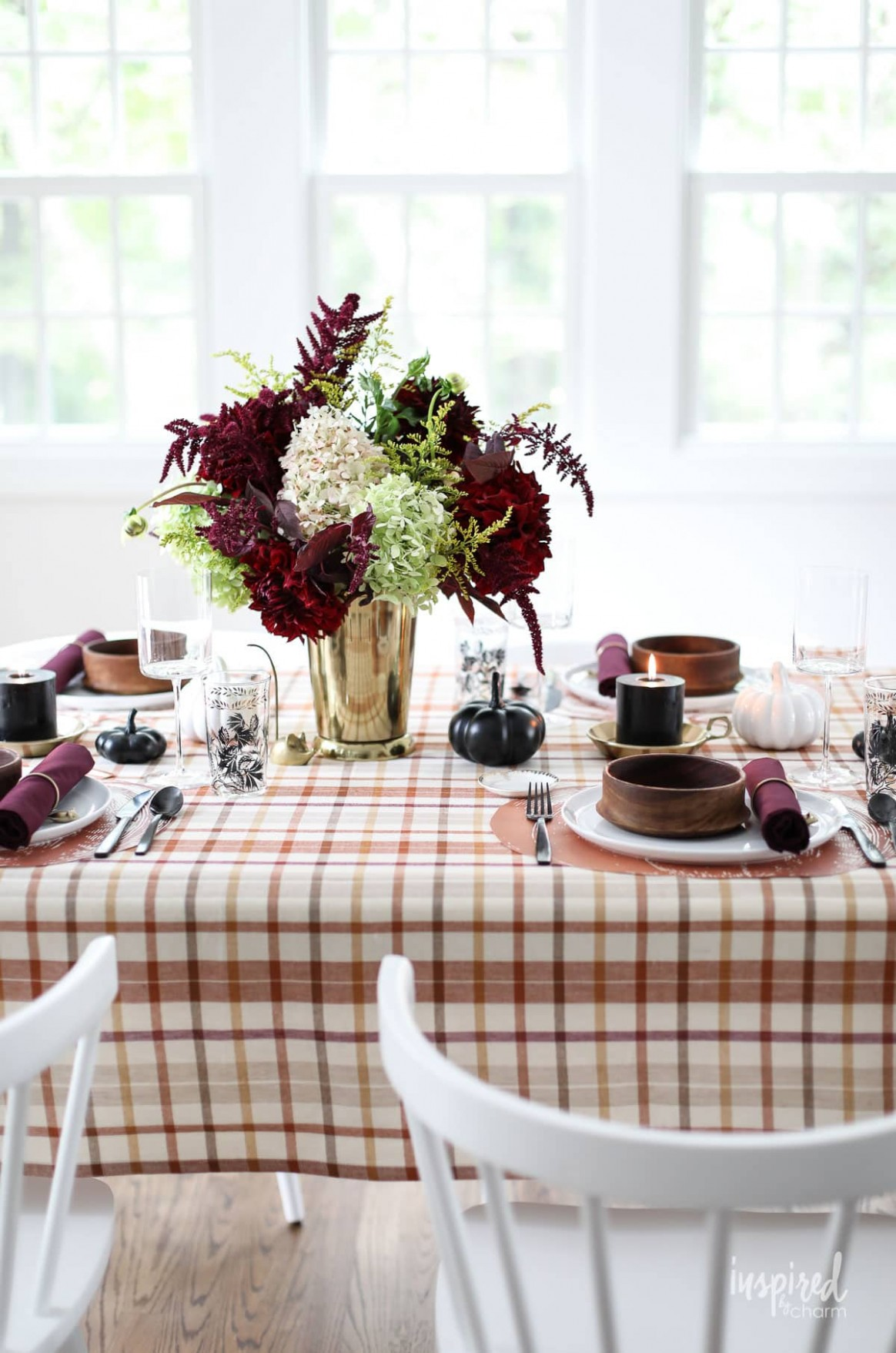 Old Meets New: Colorful Fall Table Decorations - Fall Dining Room  - Dining Room Ideas Tablecloth