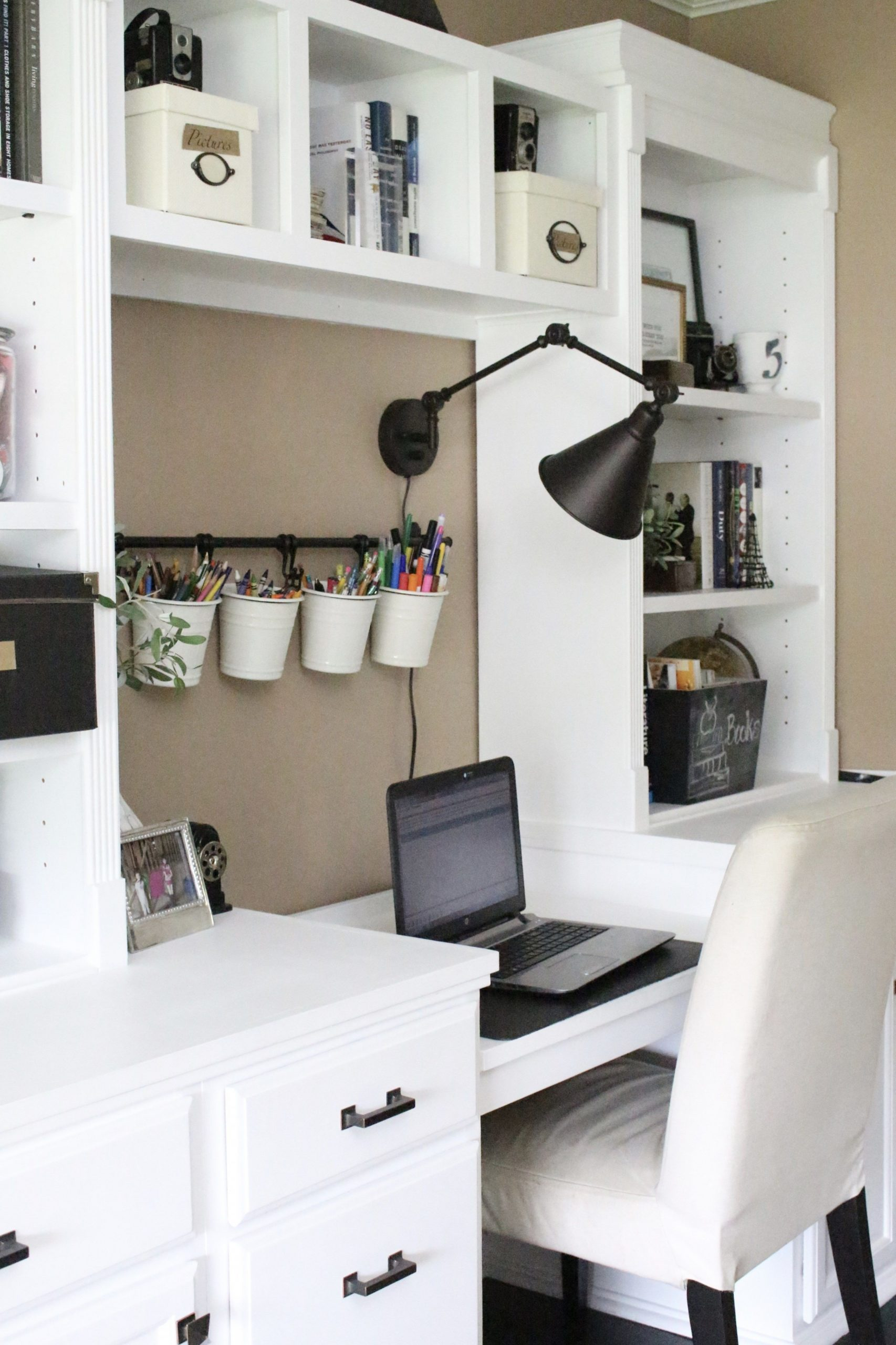 One Room Challenge ORC Week #9: Reveal of a Functional & Stylish  - Home Office Ideas With Storage