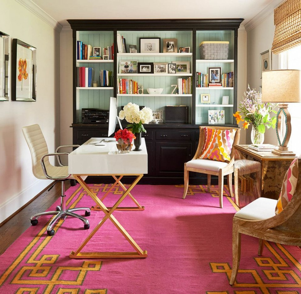 orange pink greek key carpet office glamorous decorating white  - Home Office Ideas Carpet