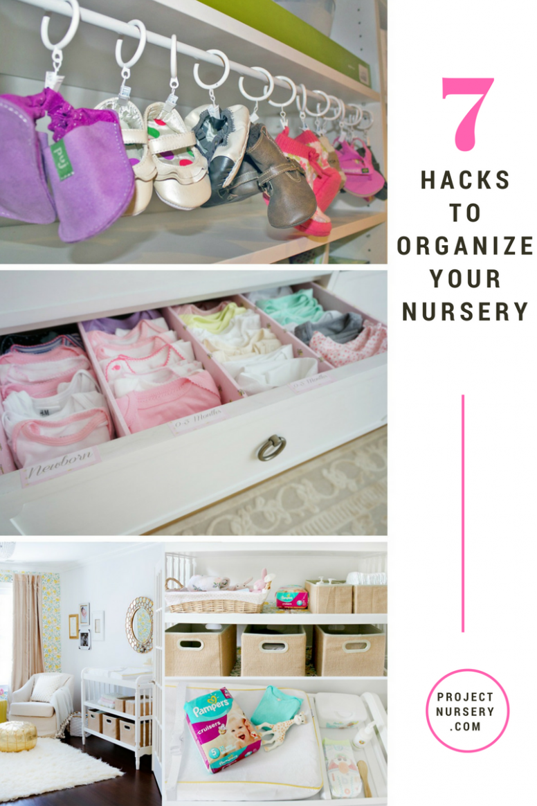 Organize Your Nursery Like a Boss - Project Nursery  Baby room  - Baby Room Hacks