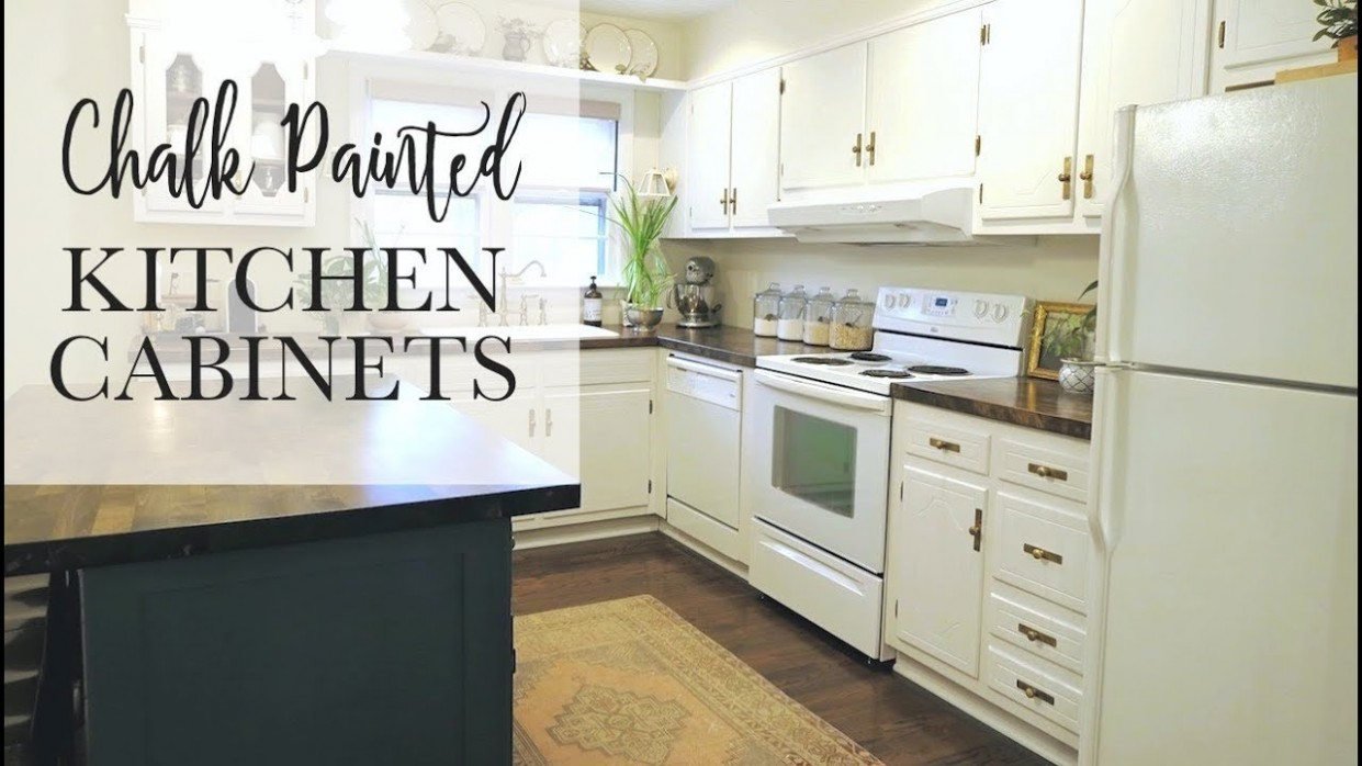 OUR $10 CHALK PAINT CABINET TRANSFORMATION  No Sanding! - Youtube Painted Kitchen Cabinets