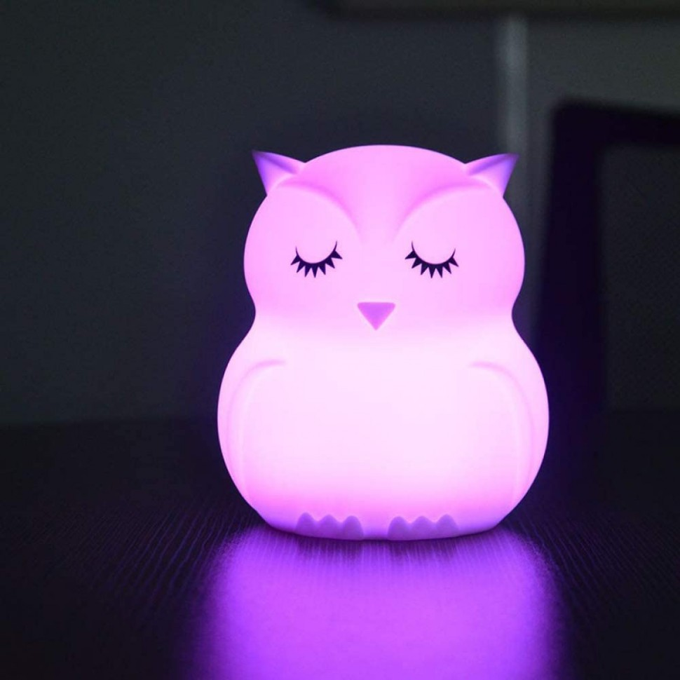 Page Adelasd Cartoon Colorful LED Night Lamp Touch Control  - Baby Room Night Light