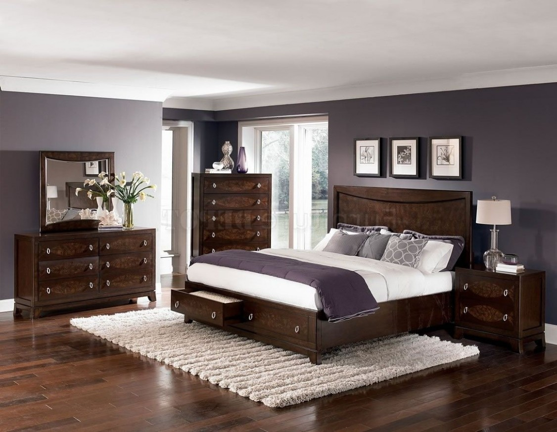 paint colours for bedrooms dark wood furniture - Google Search  - Bedroom Ideas With Dark Furniture