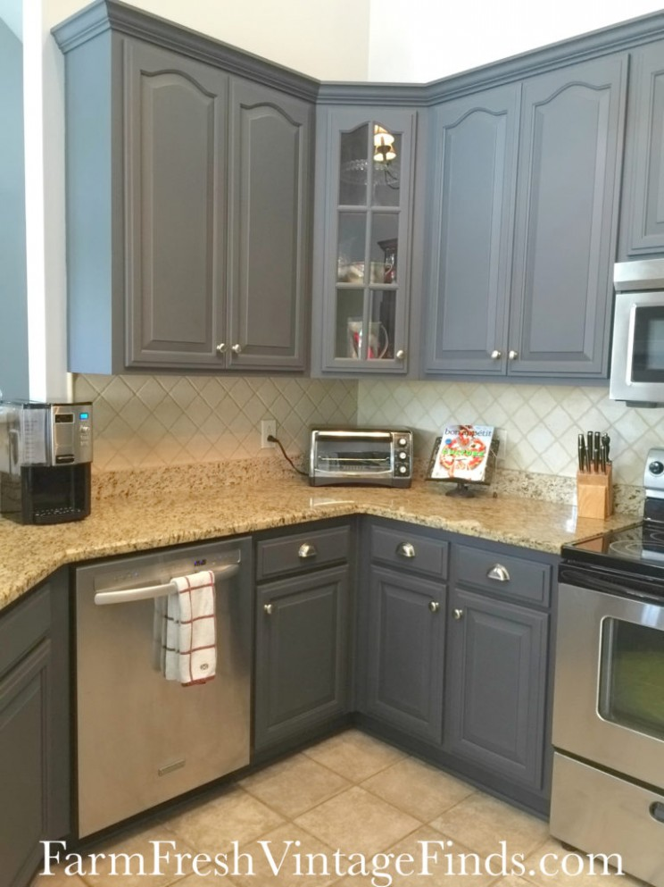 Painting Kitchen Cabinets with General Finishes Milk Paint - Farm  - How To Finish Kitchen Cabinets