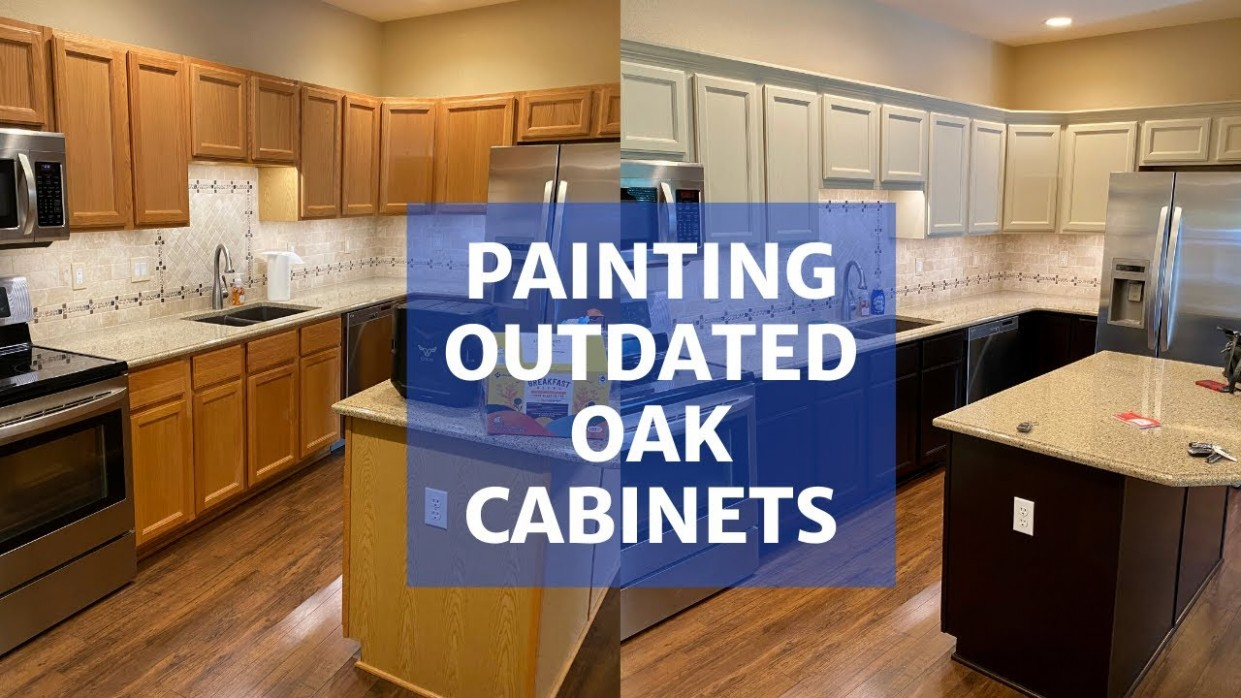 Painting Oak Cabinets - Transform Your Kitchen! - How To Make Wood Kitchen Cabinets Look Better