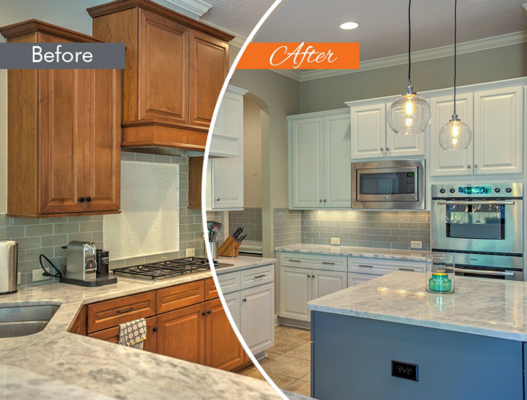 Pictures do not do this project justice! From dull to bright in a  - Refacing Kitchen Cabinets New Jersey