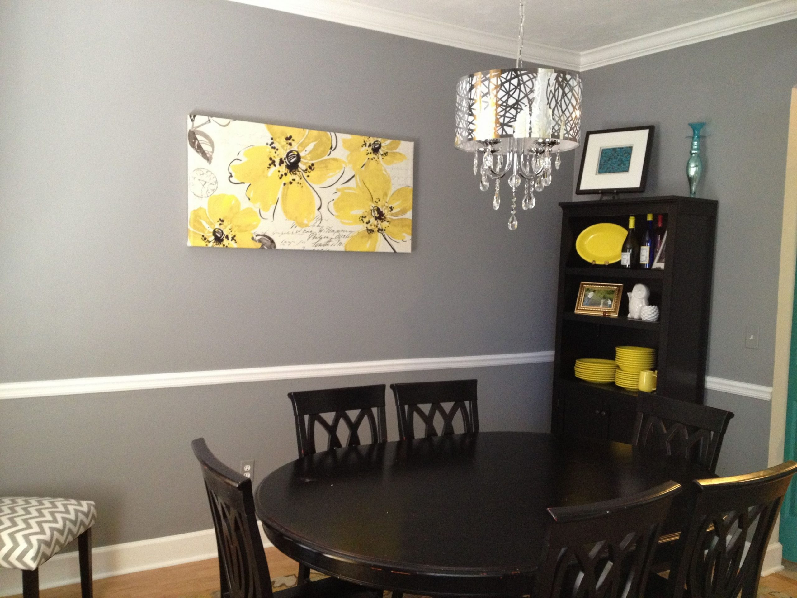 Pin by Amber Peebles on Stuff for the home  Yellow dining room  - Grey Yellow Dining Room Ideas