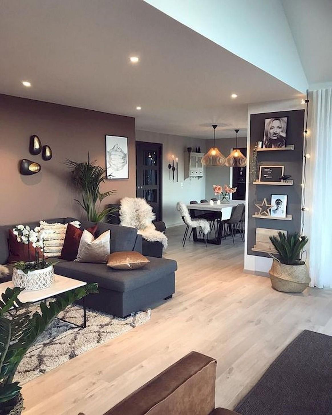 Pin by Carol-Ann Neal on Modern decor in 10  Farm house living  - Rustic Apartment Decor Ideas