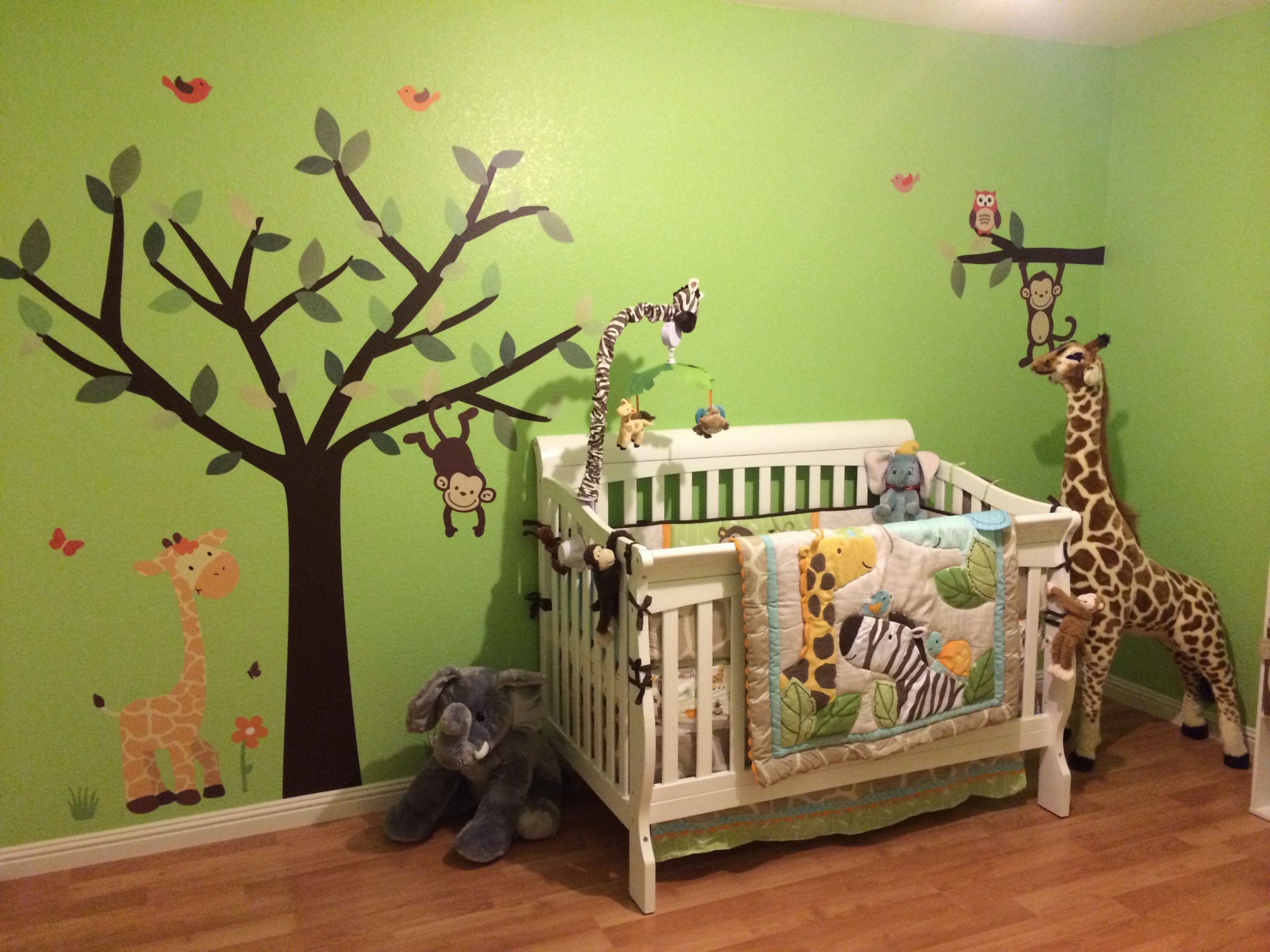 Pin by Lisbet L on Caydens room  Jungle theme nursery, Jungle  - Baby Room Jungle Theme Ideas