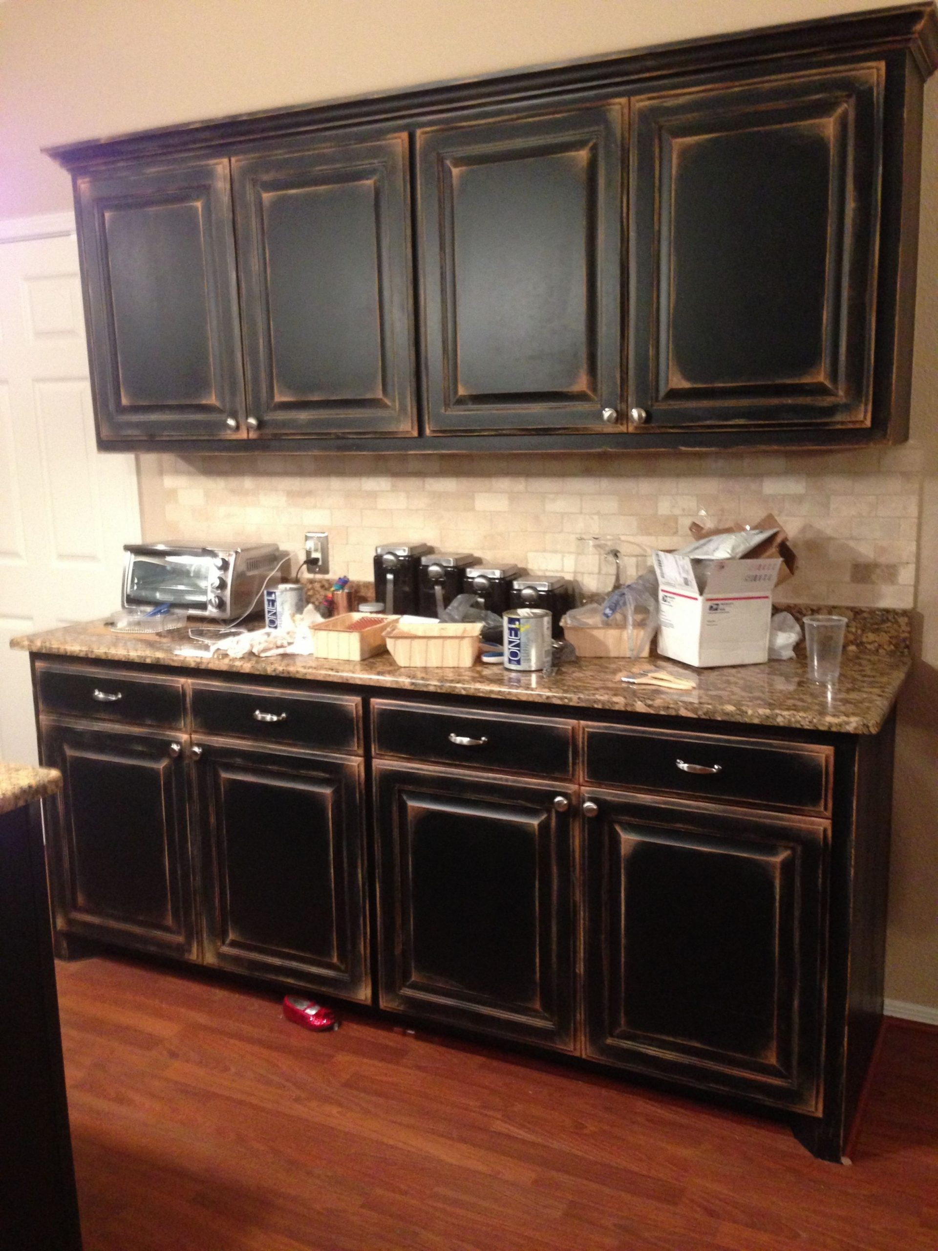 Pin by Mary Kate McCormack on My DIY Adventures  Distressed  - Distressed Kitchen Cabinets Pictures