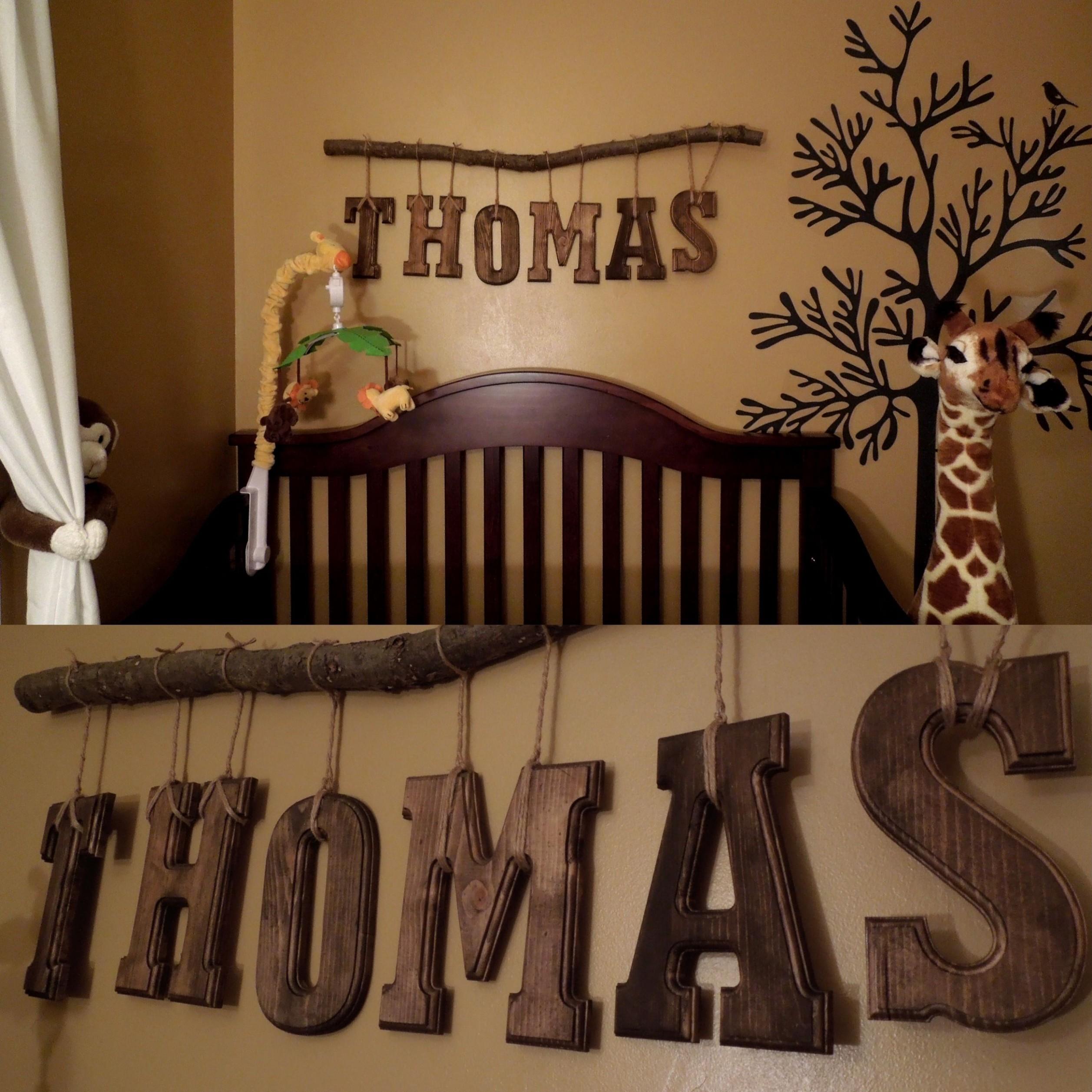 Pin by Myla Elliott on Baby Elliott  Boy nursery diy, Baby boy  - Baby Room Name Decor
