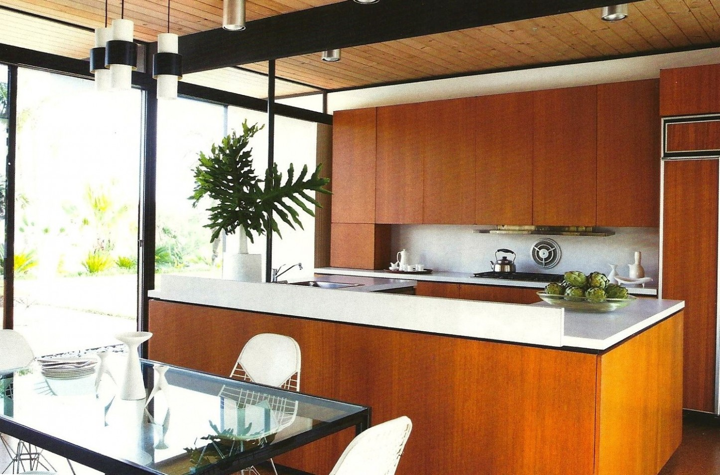 Pin by Rachel Valencia on Midcentury Modern Kitchen  Mid century  - Dark Vineer Mid Century Kitchen Cabinets