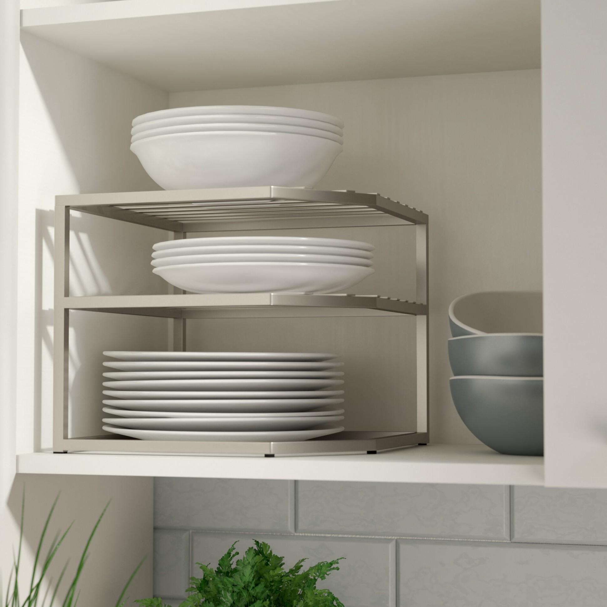 Prevatte Corner Kitchen Cabinet Organizer Shelving Rack - 26 X10