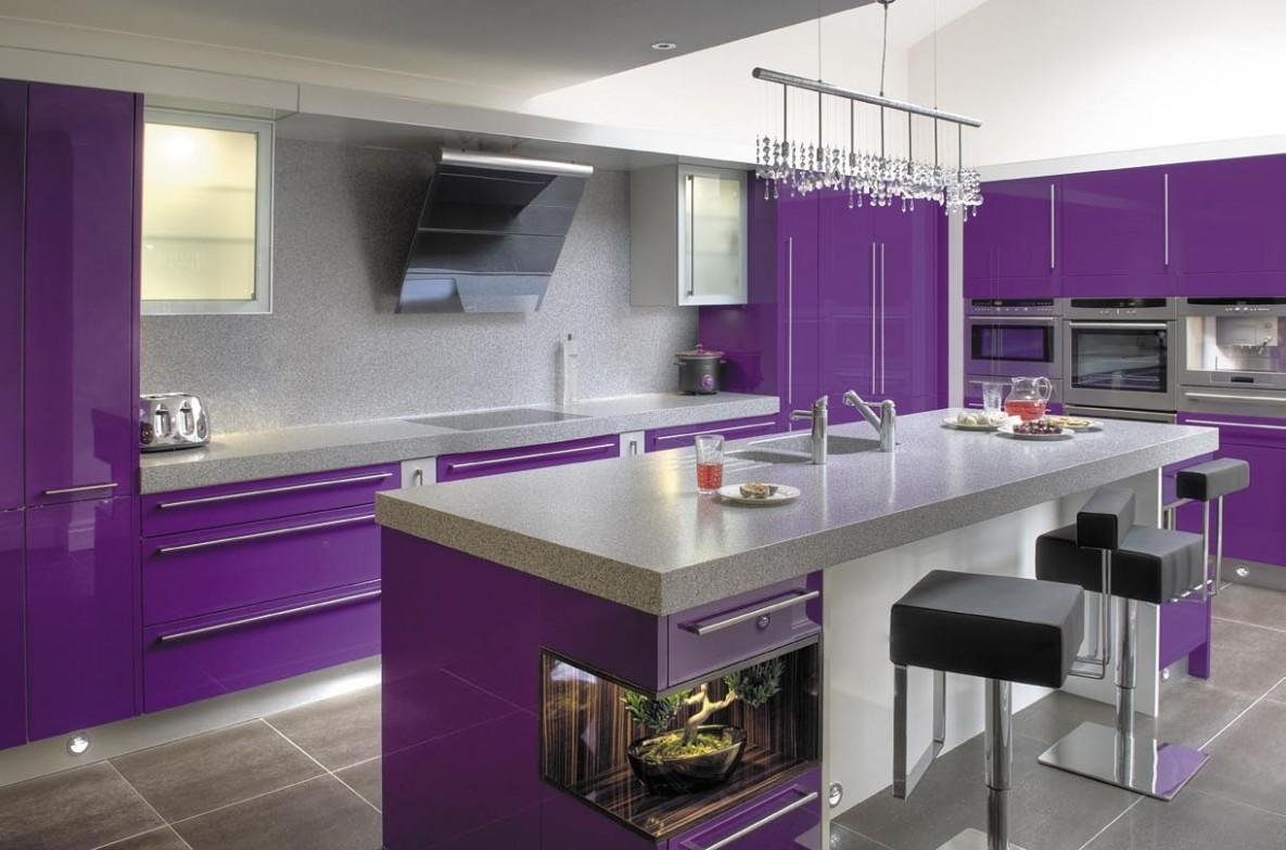 Purple Kitchen Ideas Designed in Feminine Style - Home Design  - Pink And Purple Kitchen Cabinets
