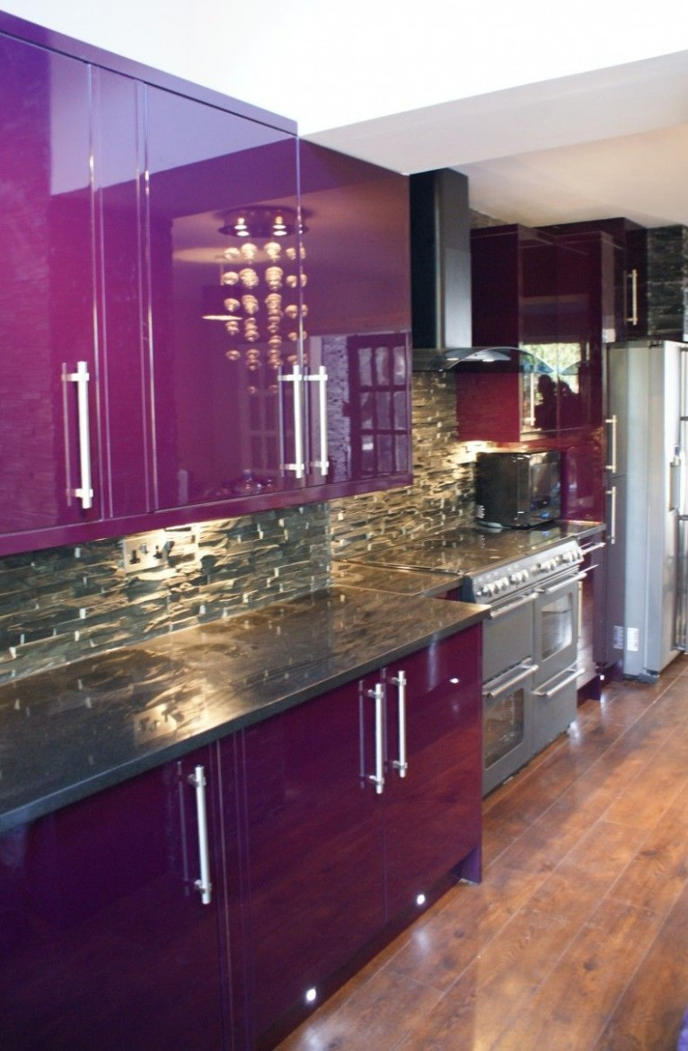 Purple kitchen ideas will refresh your house and improve your  - Pink And Purple Kitchen Cabinets