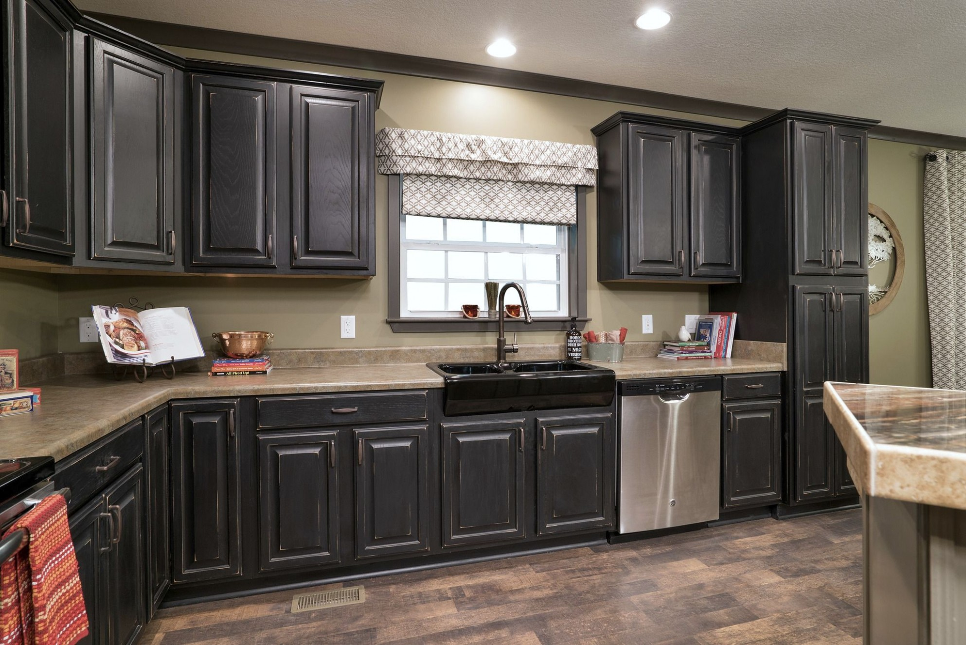 Raised Panel Black Cabinets by Kith are offered by Franklin Homes  - Franklin Kitchen Cabinets