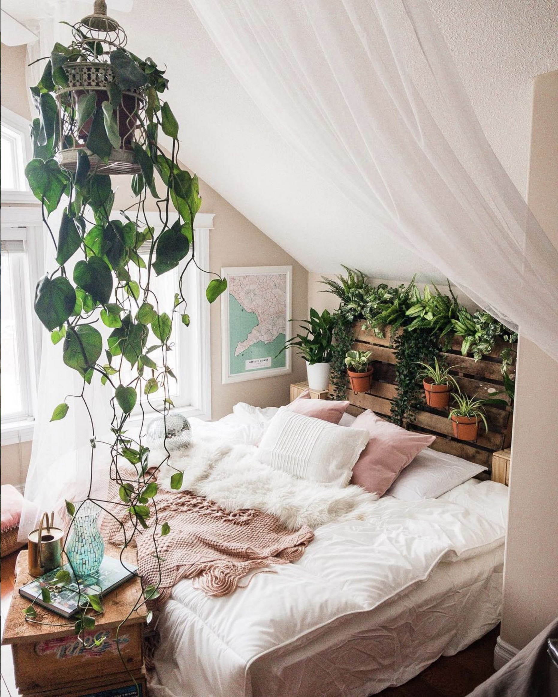 Refreshing bedroom ideas  Bedroom design, Home bedroom, Bedroom  - Bedroom Ideas Plants