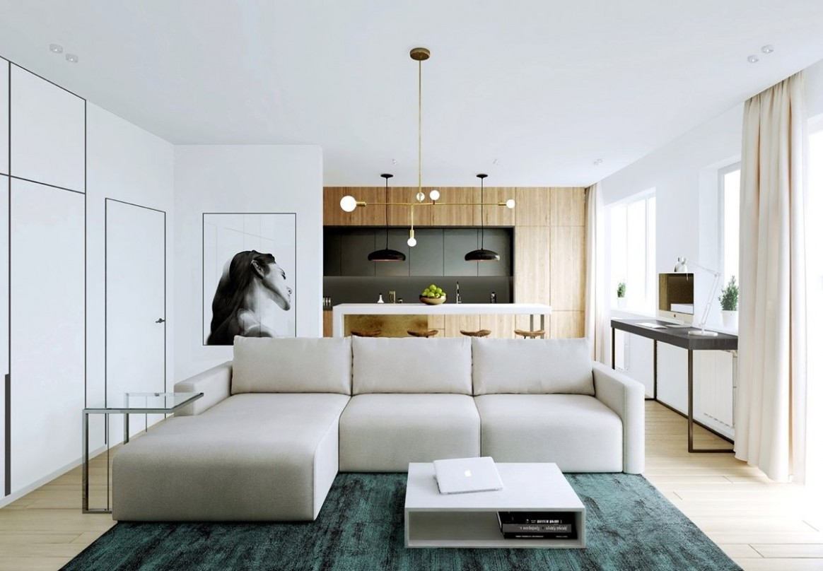 Relaxing Color Schemes In 12 Efficient Single-Bedroom Apartments  - Apartment Home Design