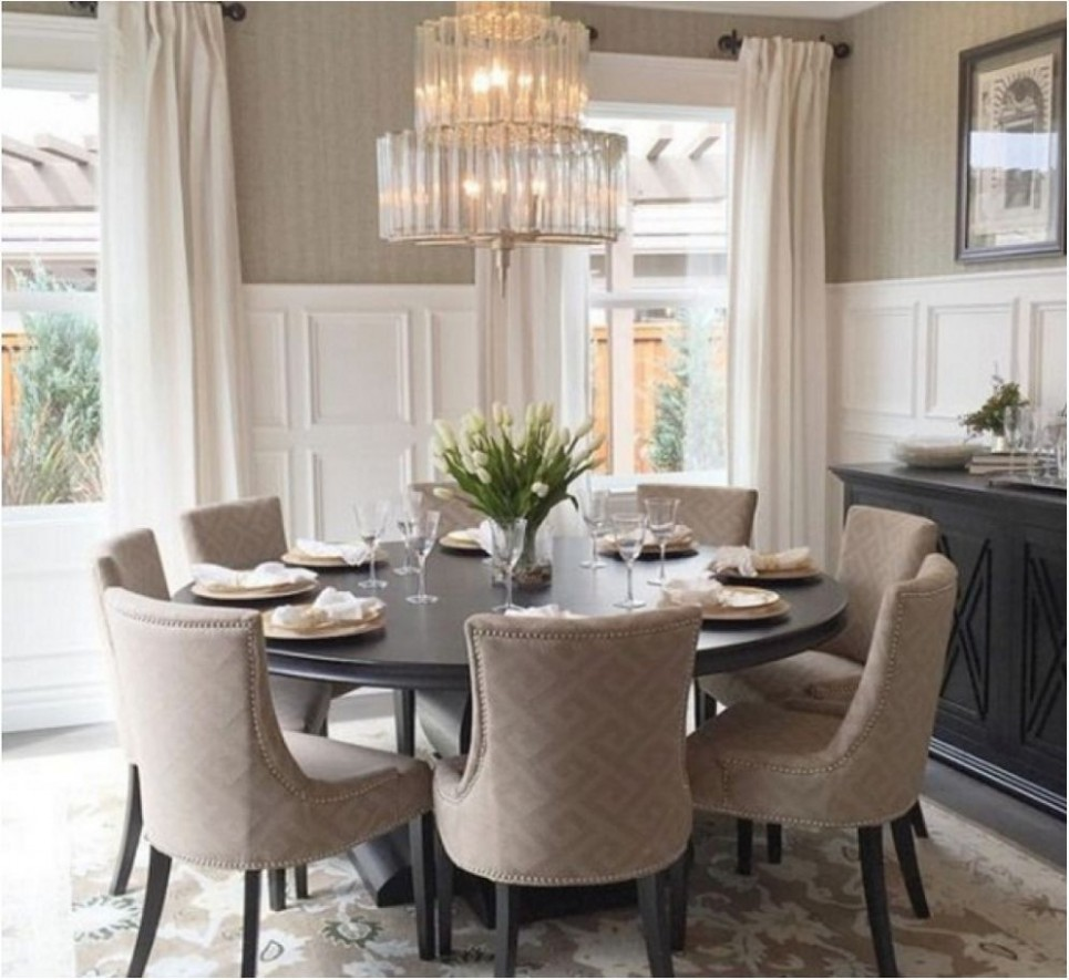 remarkable dining room large round oak dining table 10 chairs  - Dining Room Ideas Round Table