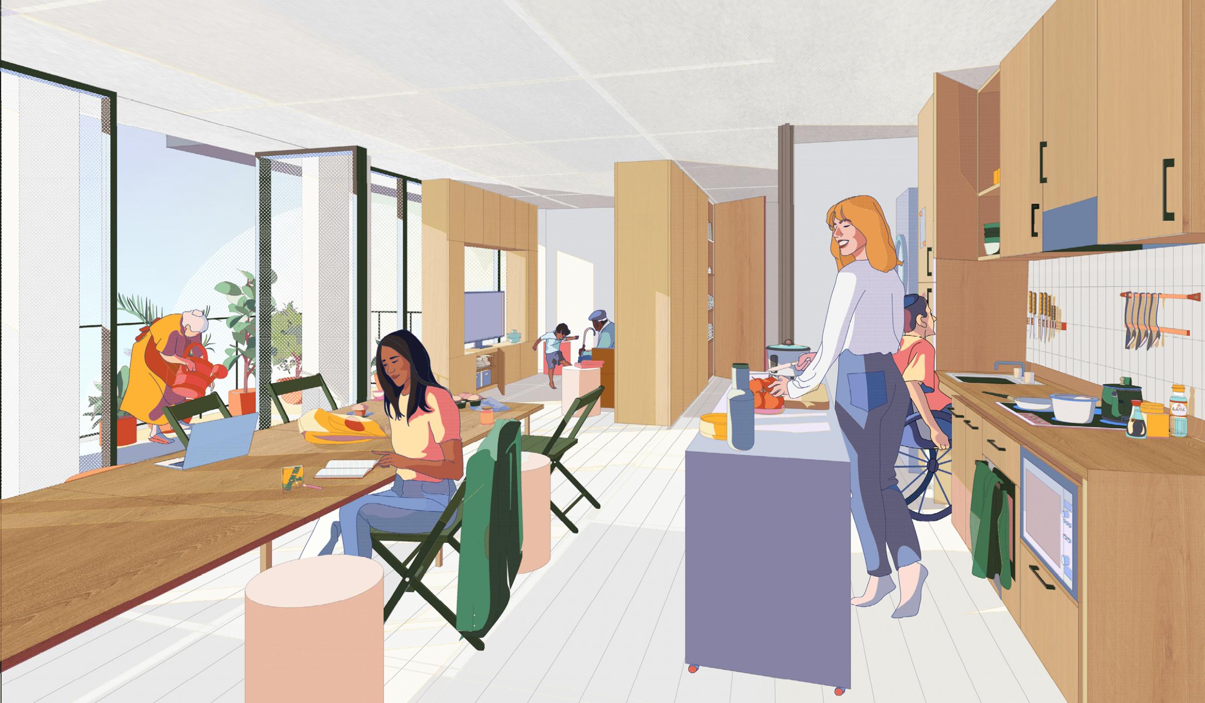 Rethinking Multi-Unit Residential: imagining the future of living - Apartment Unit Design