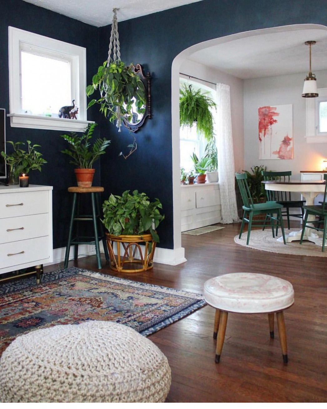 Retro Dining Rooms: Take a look at this dazzling dining room  - Dining Room Ideas With Plants