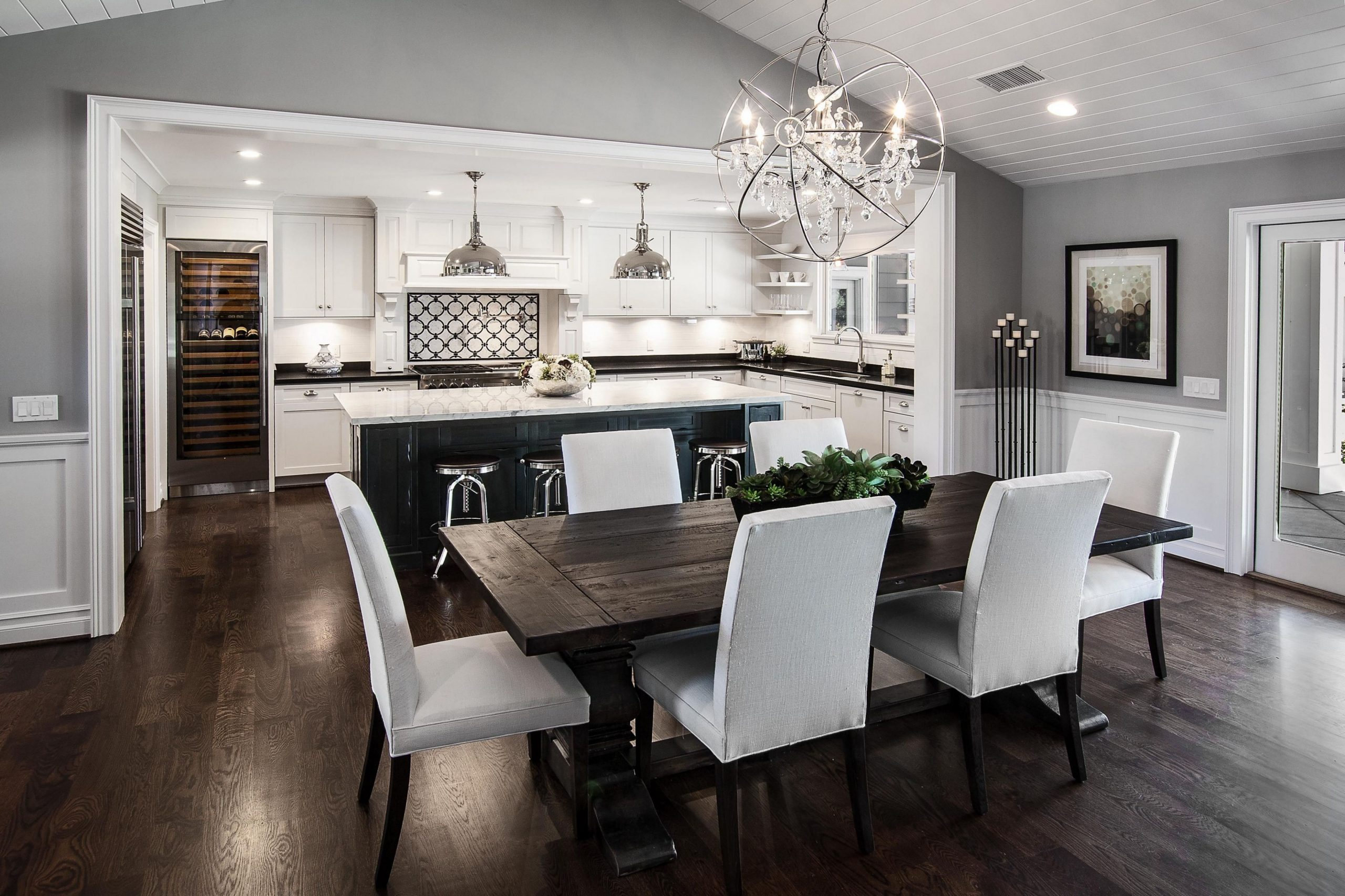 Review 12 Gigantic Influences Of Open Concept Kitchen Dining Room  - Dining Room Open To Kitchen Ideas