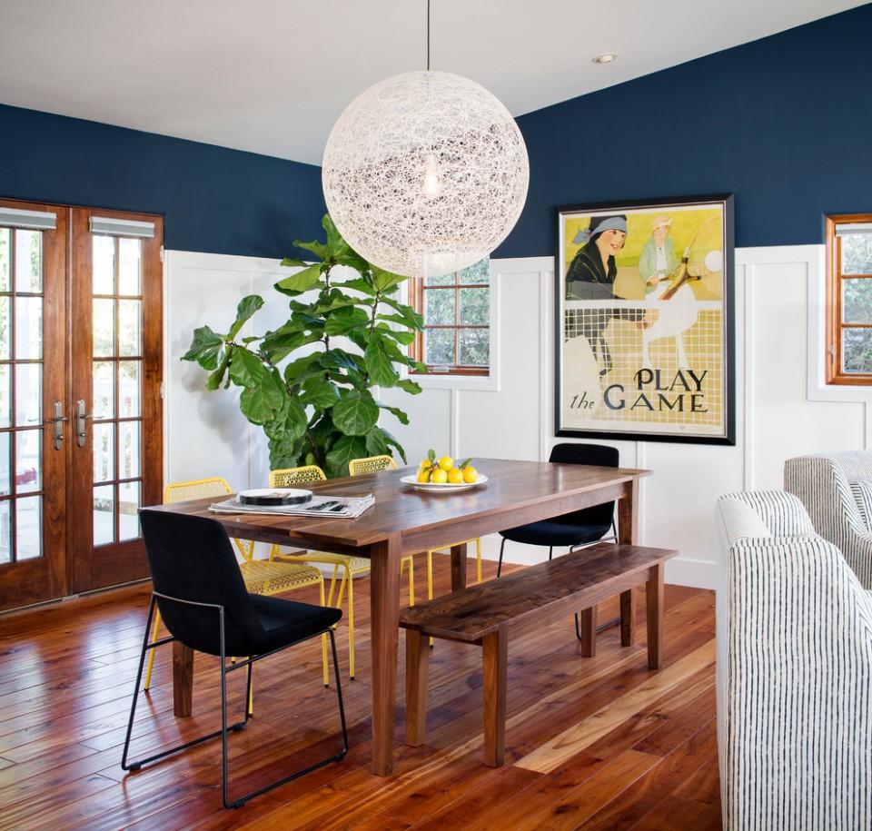 San Francisco Offset House By Beach Style Dining Room Beach  - Dining Room Ideas With Hardwood Floors