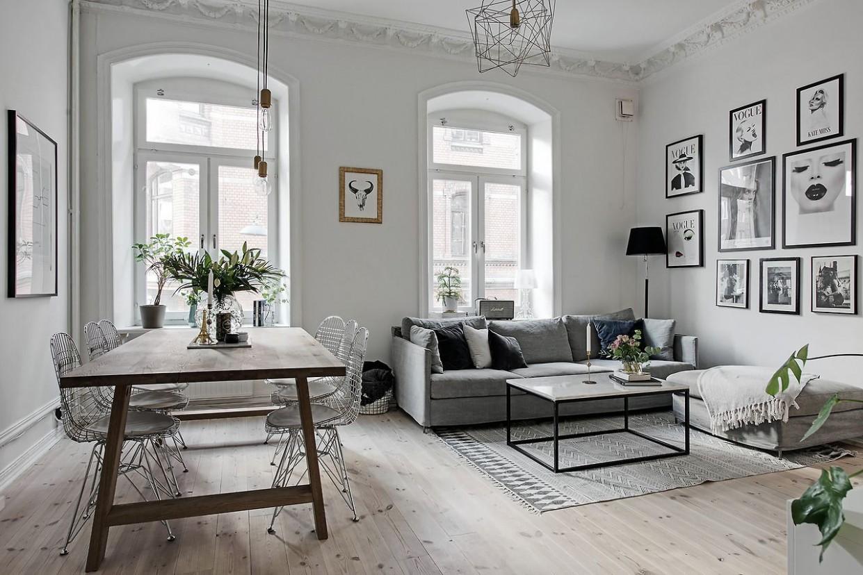 scandinavian style apartment  Скандинавская гостиная, Дизайн  - Scandinavian Apartment Decor Ideas