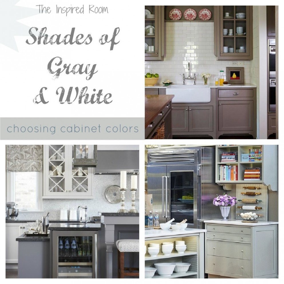 Shades of Neutral} Gray & White Kitchens — Choosing Cabinet Colors  - Choosing Kitchen Cabinet Color
