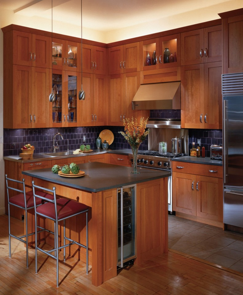 Shaker Cherry Kitchen Cabinets - Traditional - Kitchen - Other  - Red Shaker Kitchen Cabinets