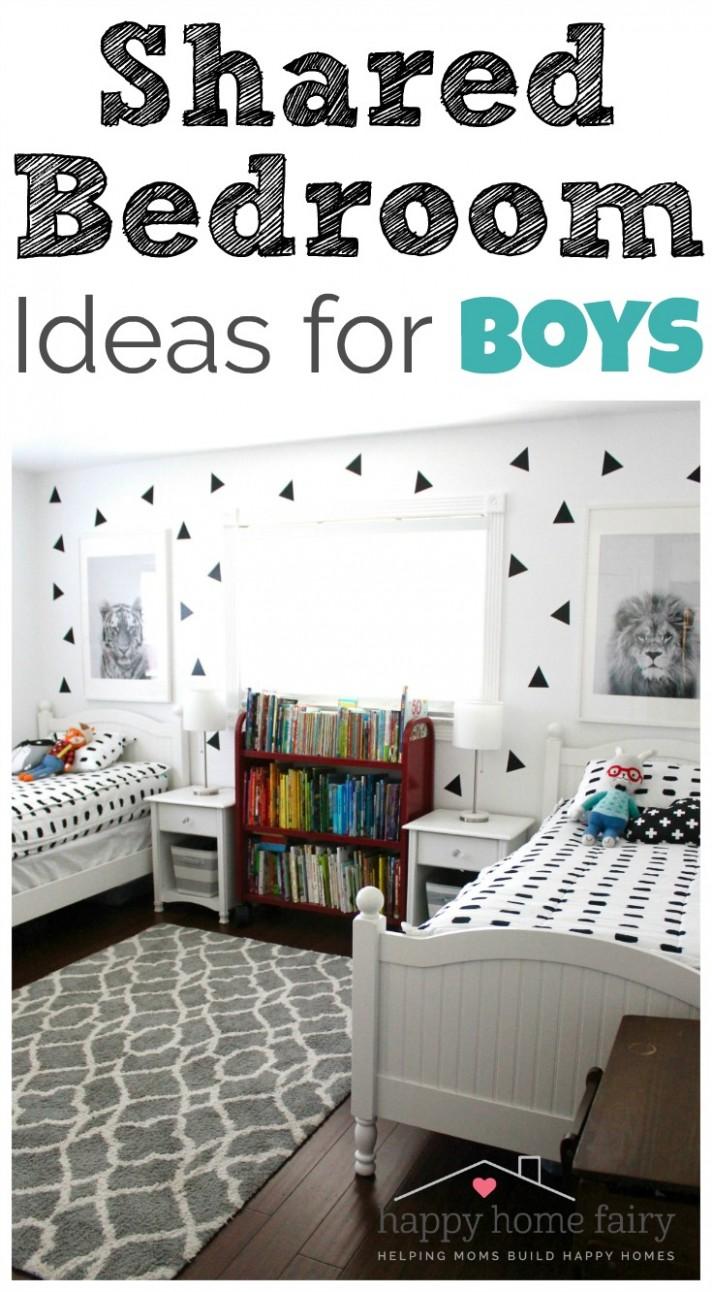 Shared Bedroom Ideas for Boys - Happy Home Fairy - Bedroom Ideas Amazon