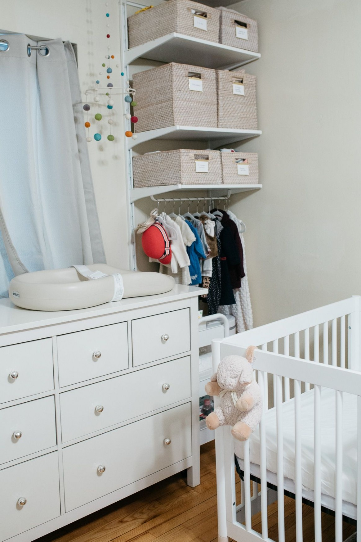 Shared Nursery Organization Ideas for a Small Apartment  - Baby Room Storage Ideas