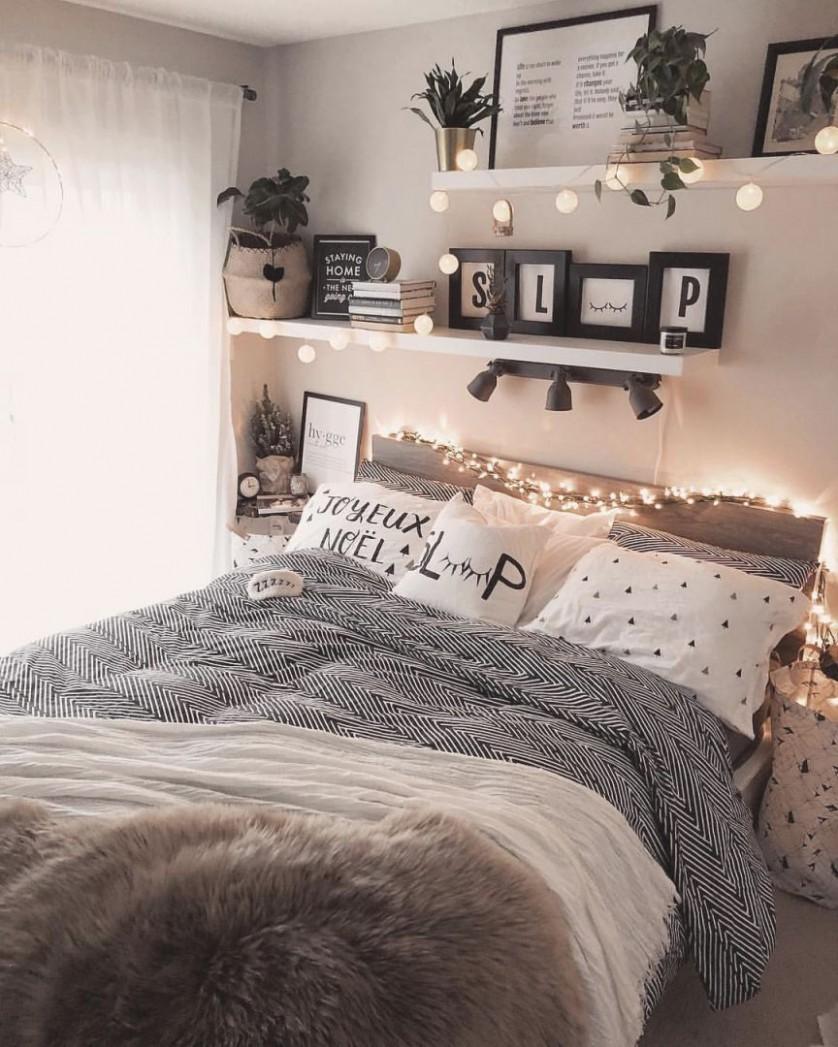 Simple Bedroom Decorating Ideas - Houzdeco within Bedroom Cheap  - Bedroom Ideas Cheap
