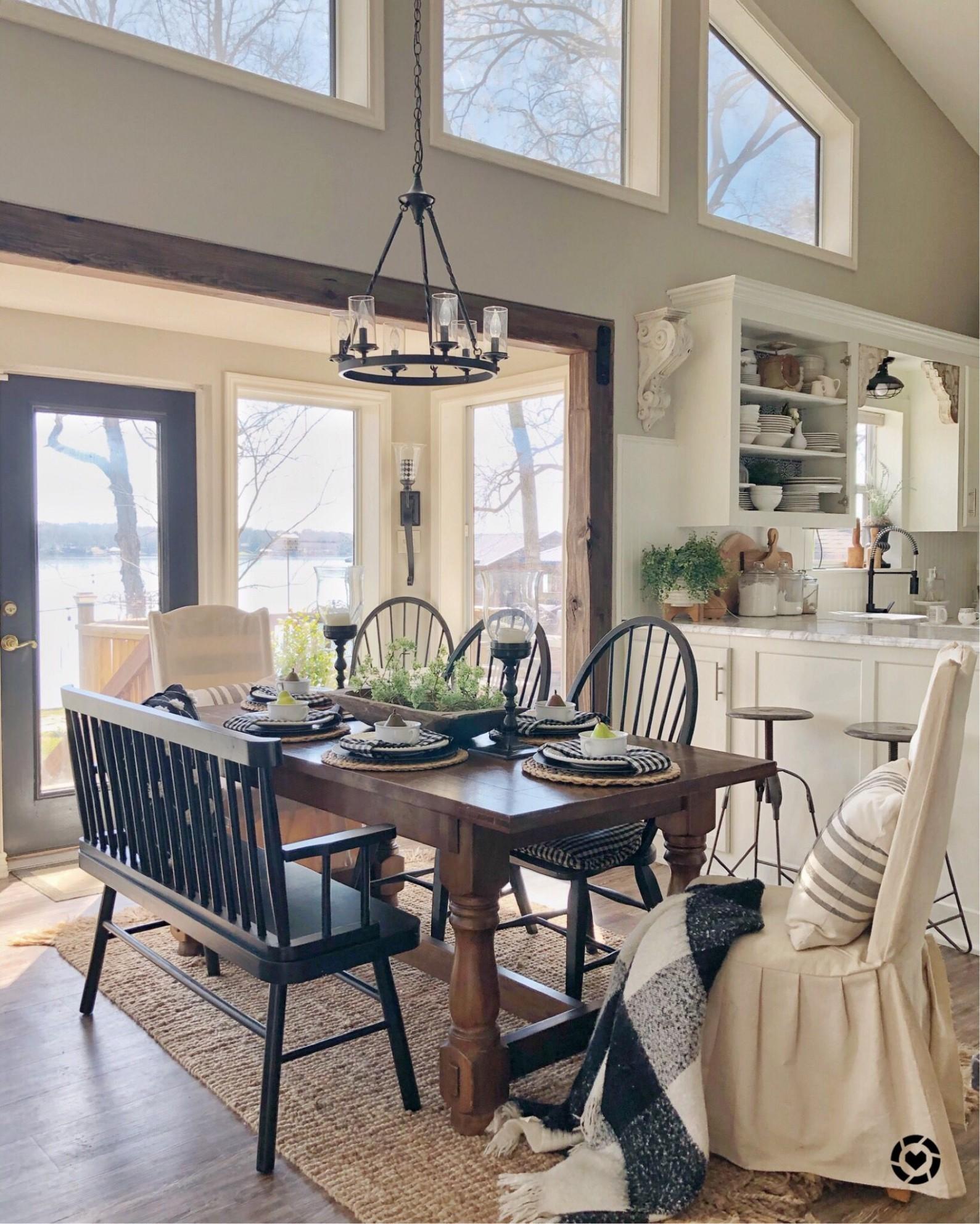 Simple modern farmhouse dining room ideas