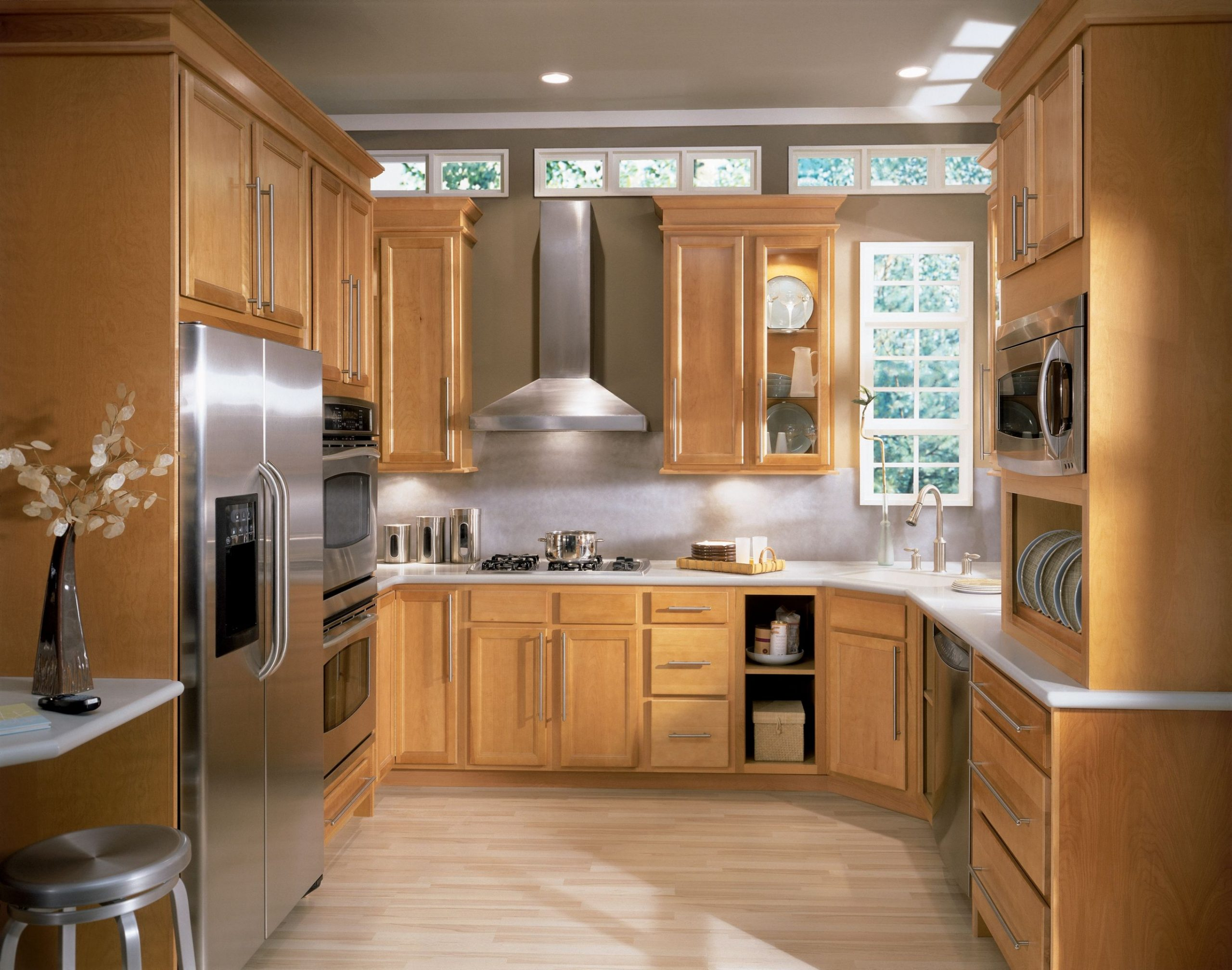 Sinclair Birch cabinet doors feature a narrow rail, flat center  - Birch Kitchen Cabinet Doors