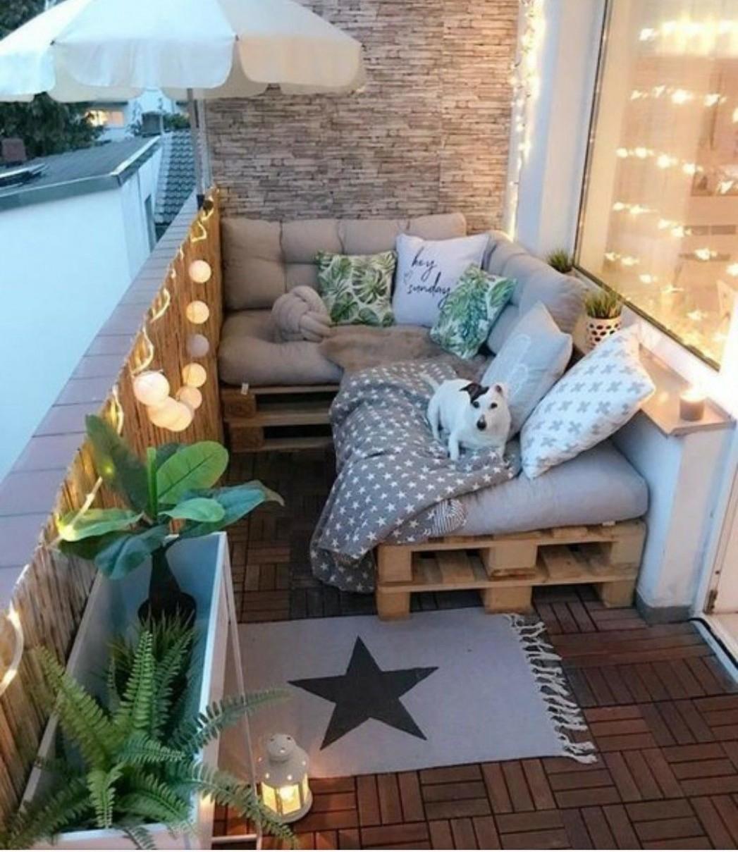 Small Balcony Ideas  Small balcony decor, First apartment  - Decorating Apartment Balcony Ideas