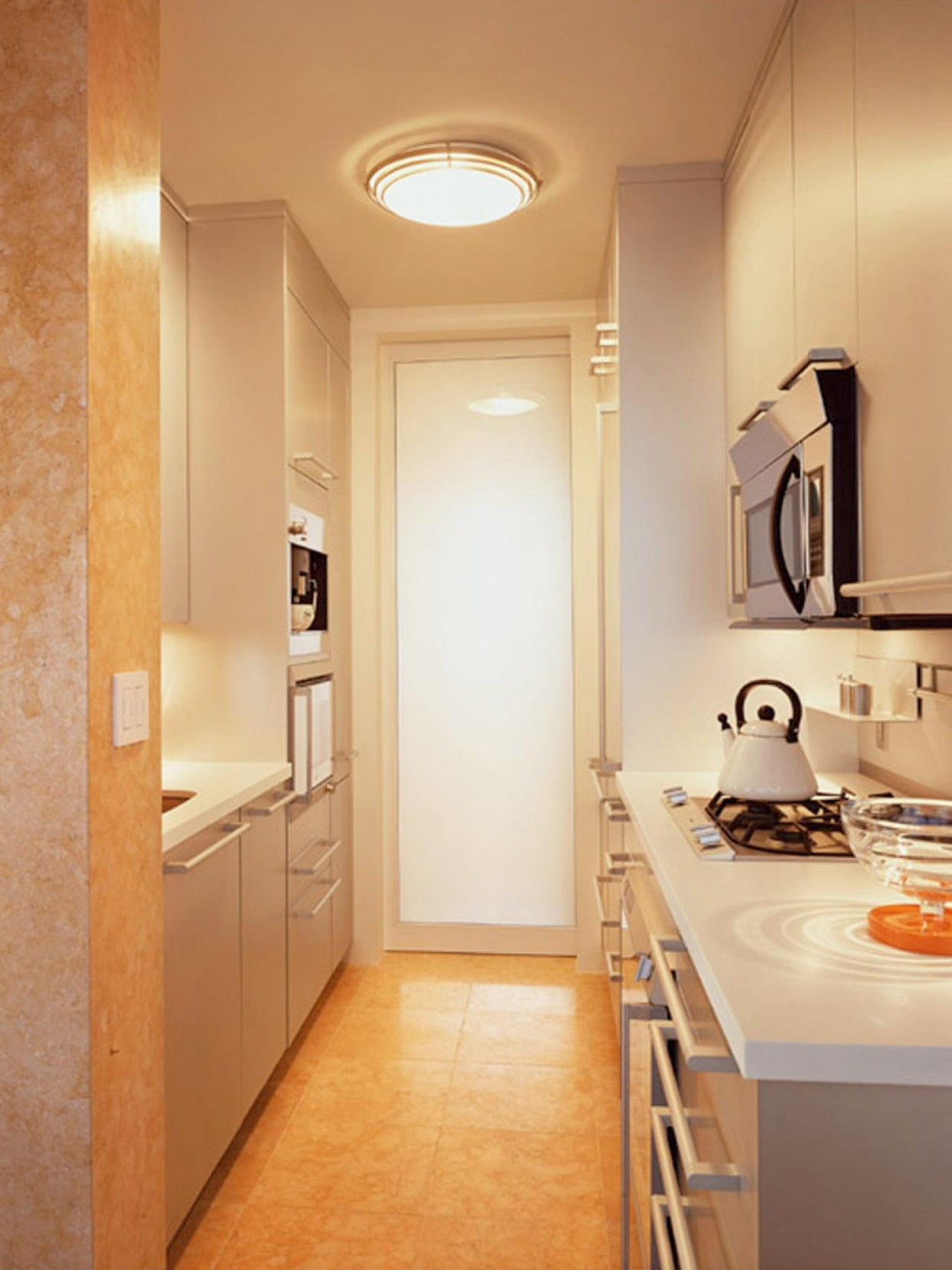 Small Galley Kitchen Design: Pictures & Ideas From HGTV  HGTV - Diy Galley Kitchen Cabinet Ideas