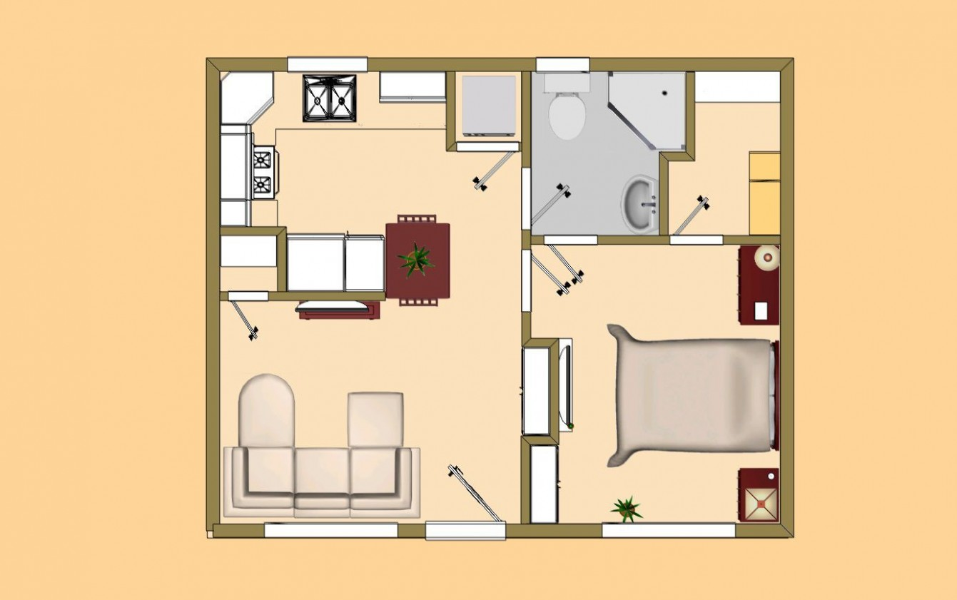 Small House Plans Under 8 Sq Ft  Tiny house floor plans, Small  - Tiny Apartment Design Under 200 Sf