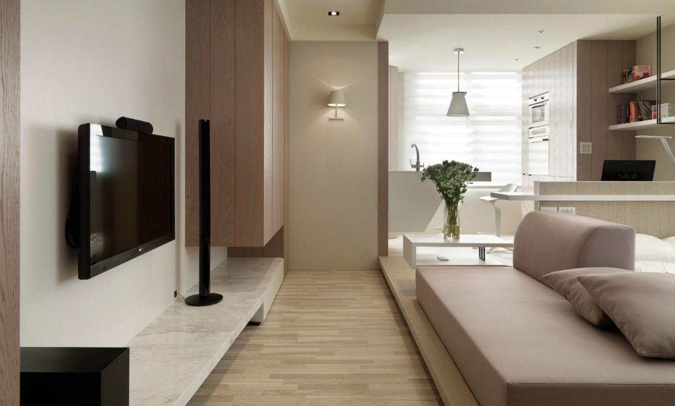 Small Living: Super Streamlined Studio Apartment  Dekorasi  - Design Apartment Kecil