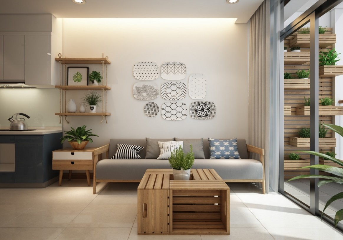 Small Modern Apartment Design With Asian And Scandinavian Influences - Apartment Home Design